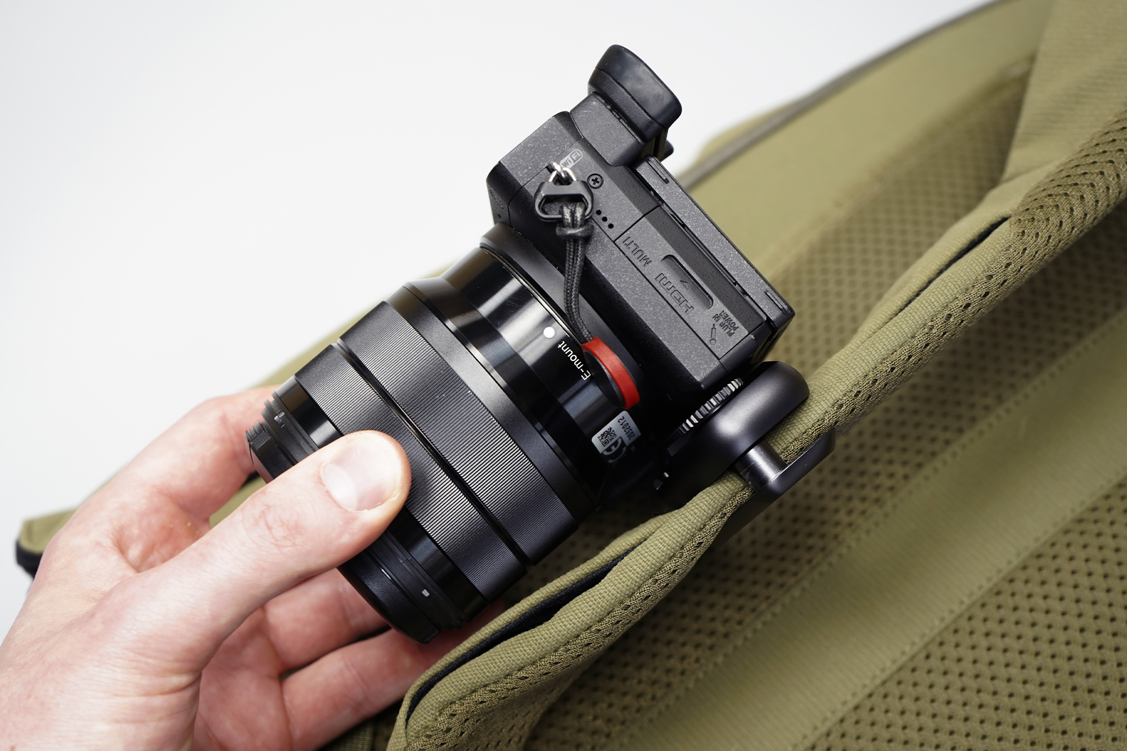 Peak Design Capture Clip | Camera mounted on the clip