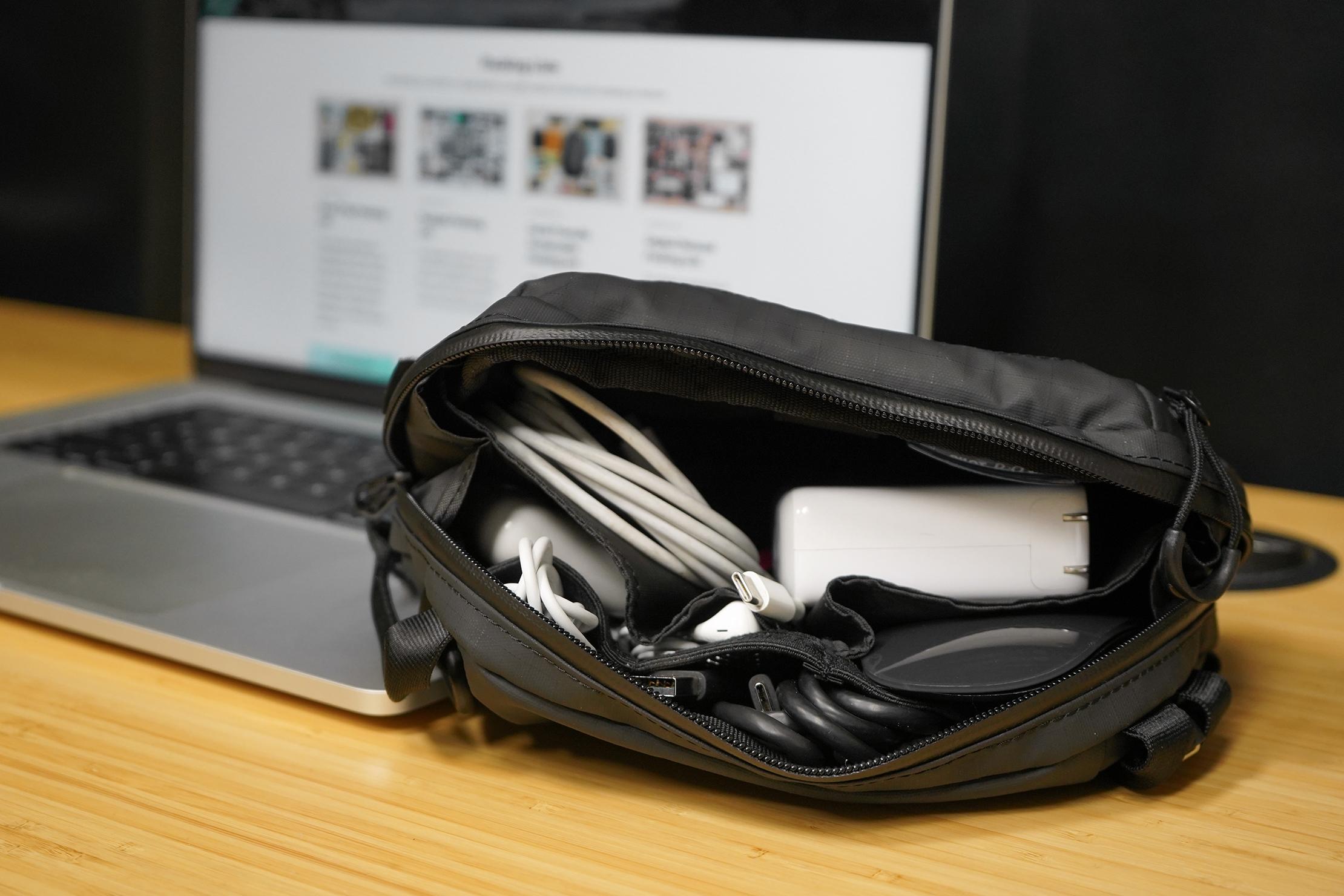 WANDRD Tech Bag Medium on desk