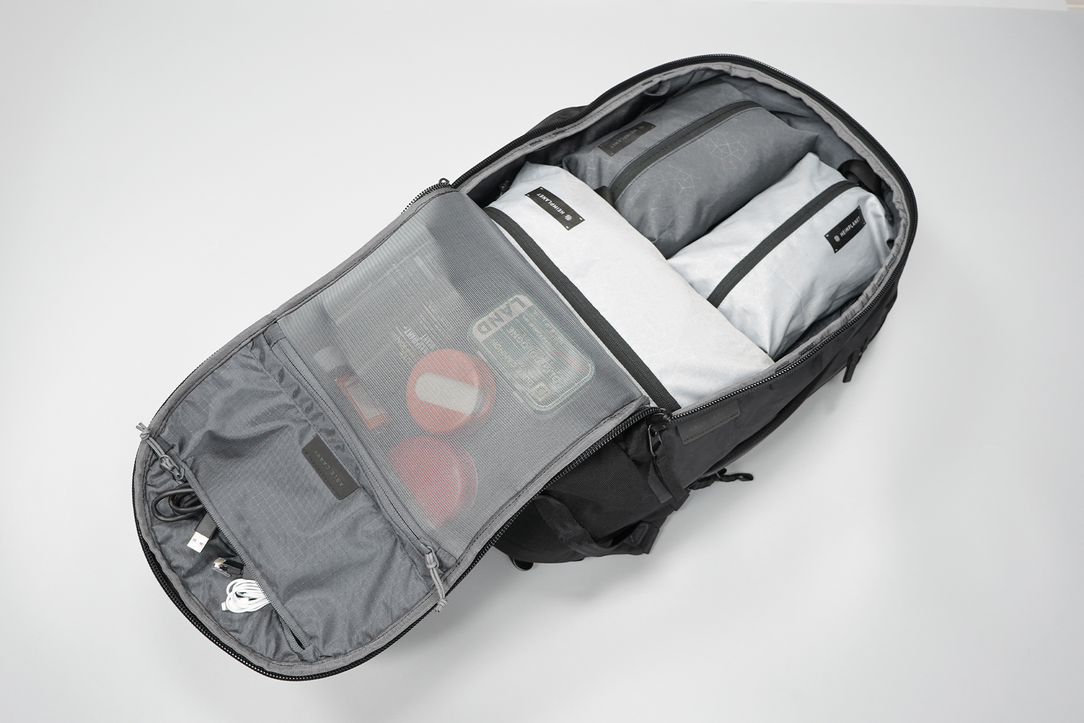 Able Carry Max Backpack | The main compartment opens up clamshell-style