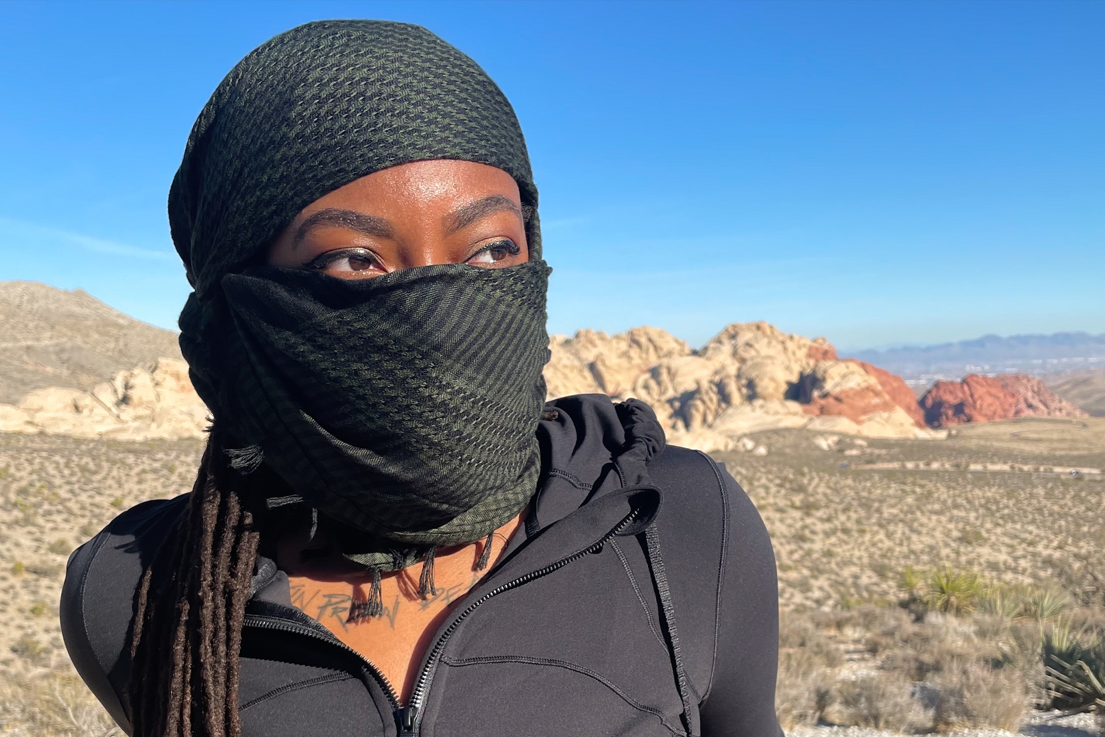 GORUCK Shemagh at Red Rock Canyon