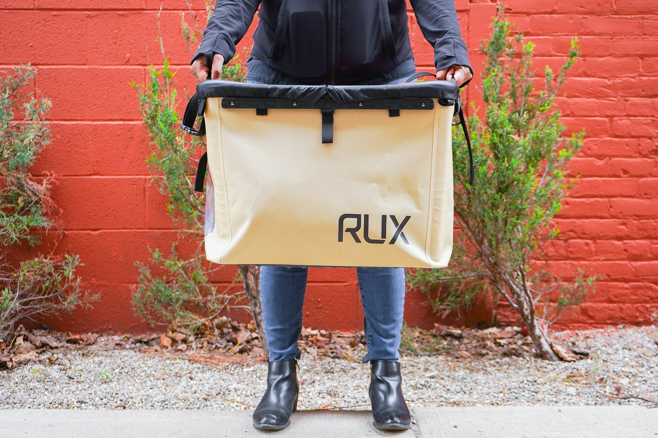 RUX 70L carrying by side handles