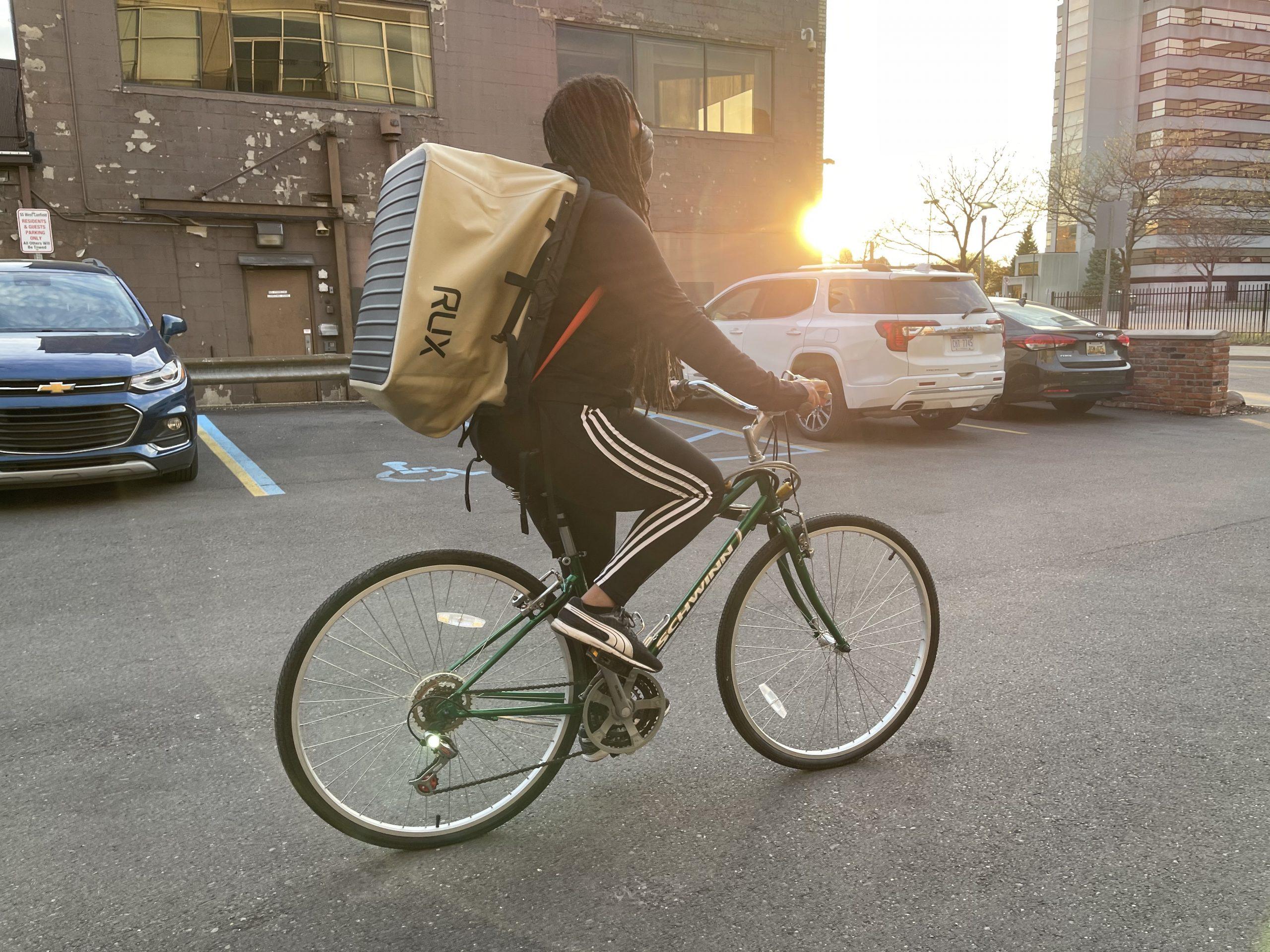 RUX 70L on bike