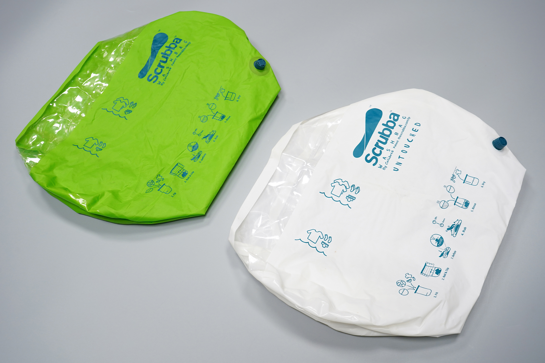 Scrubba Wash Bag Untouched vs Original Scrubba Wash Bag