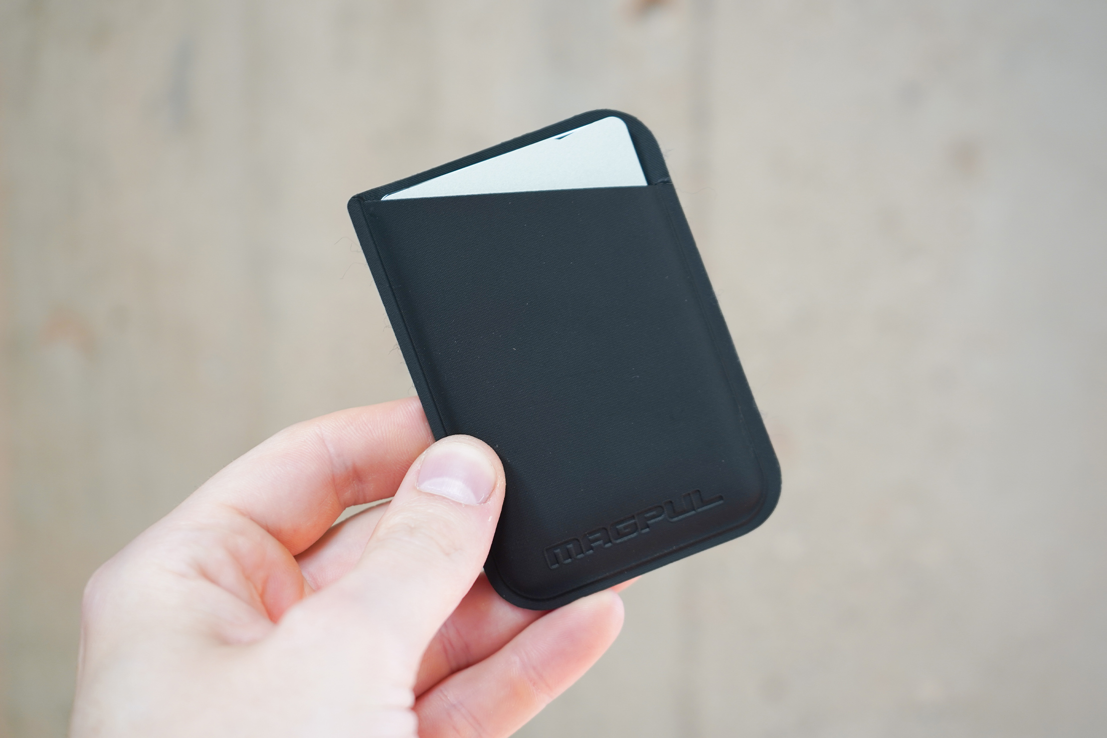Magpul DAKA Micro Wallet   It's a slim wallet for a streamlined carry.