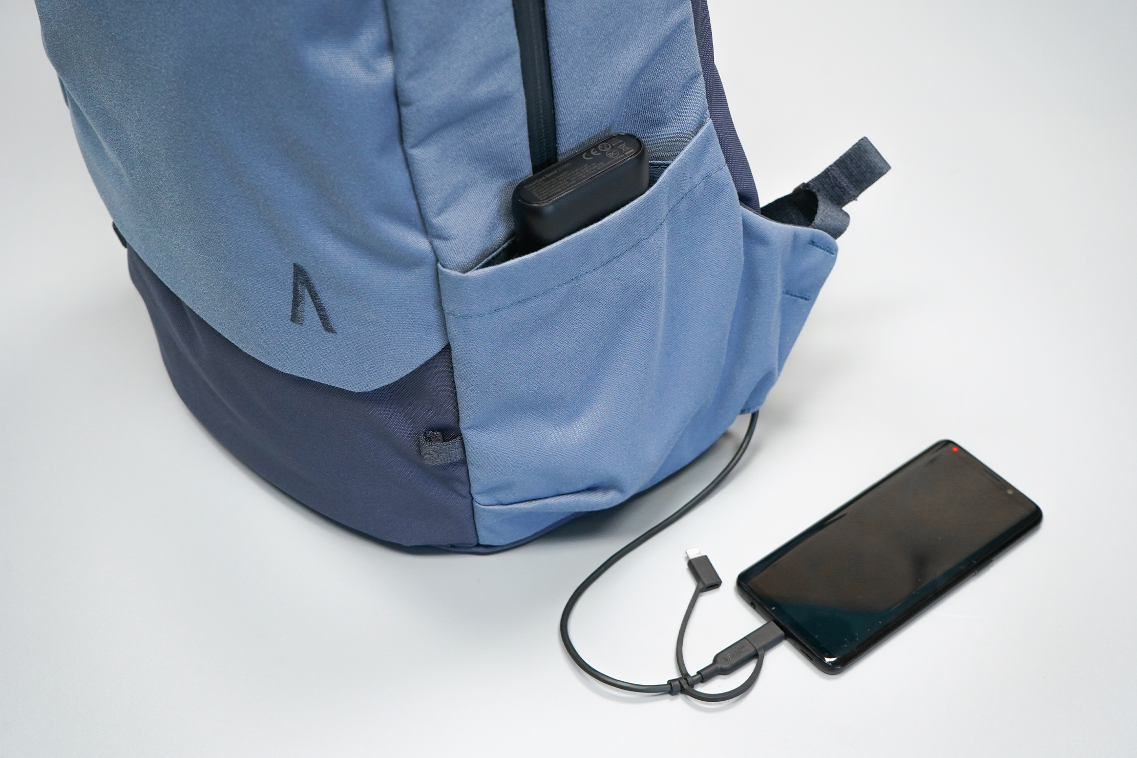 Boundary Supply Rennen Recycled Daypack | Utilizing the cable pass-through