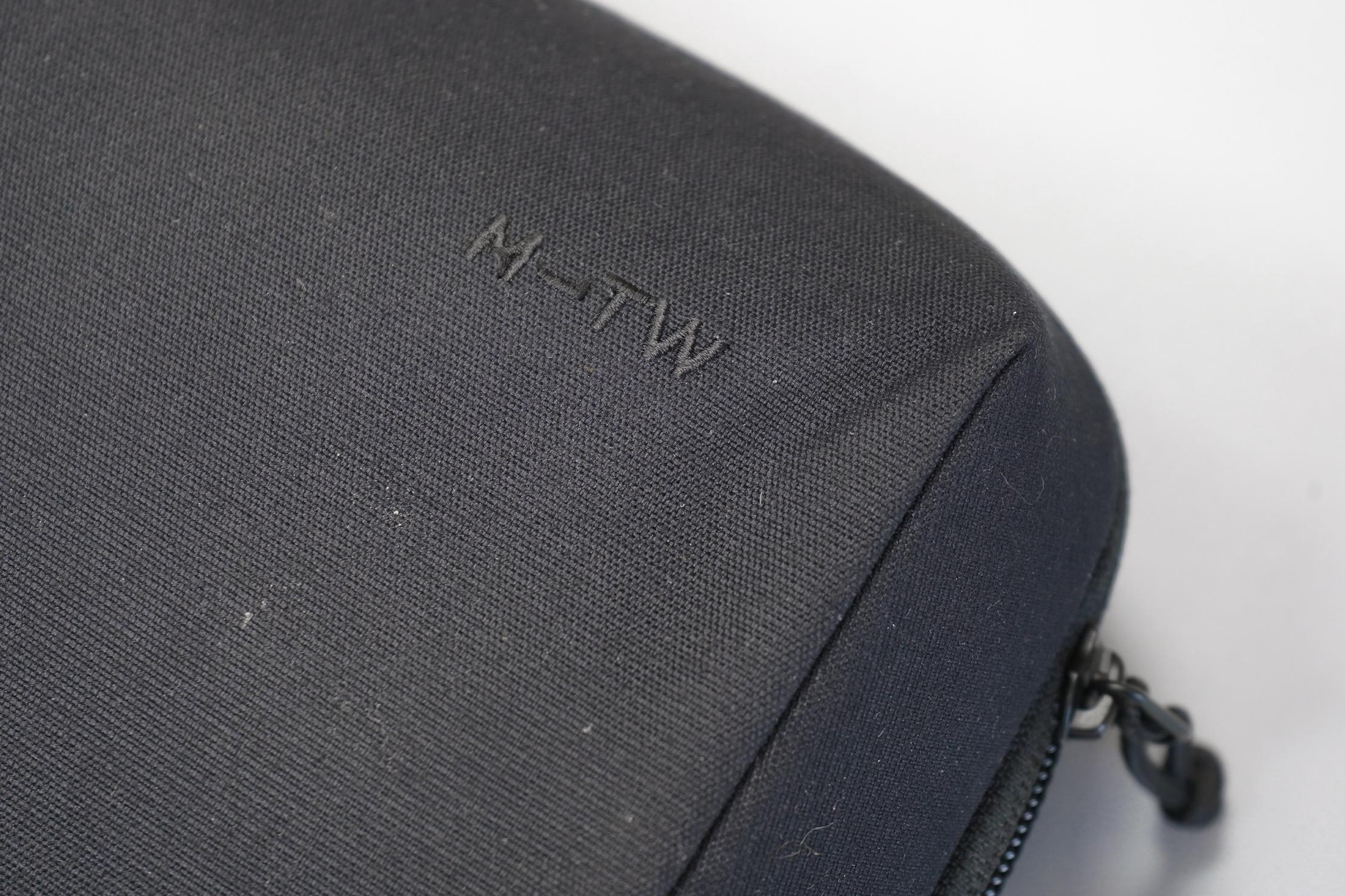Moment MTW Tech Organizer | Logo, fabric, and zipper