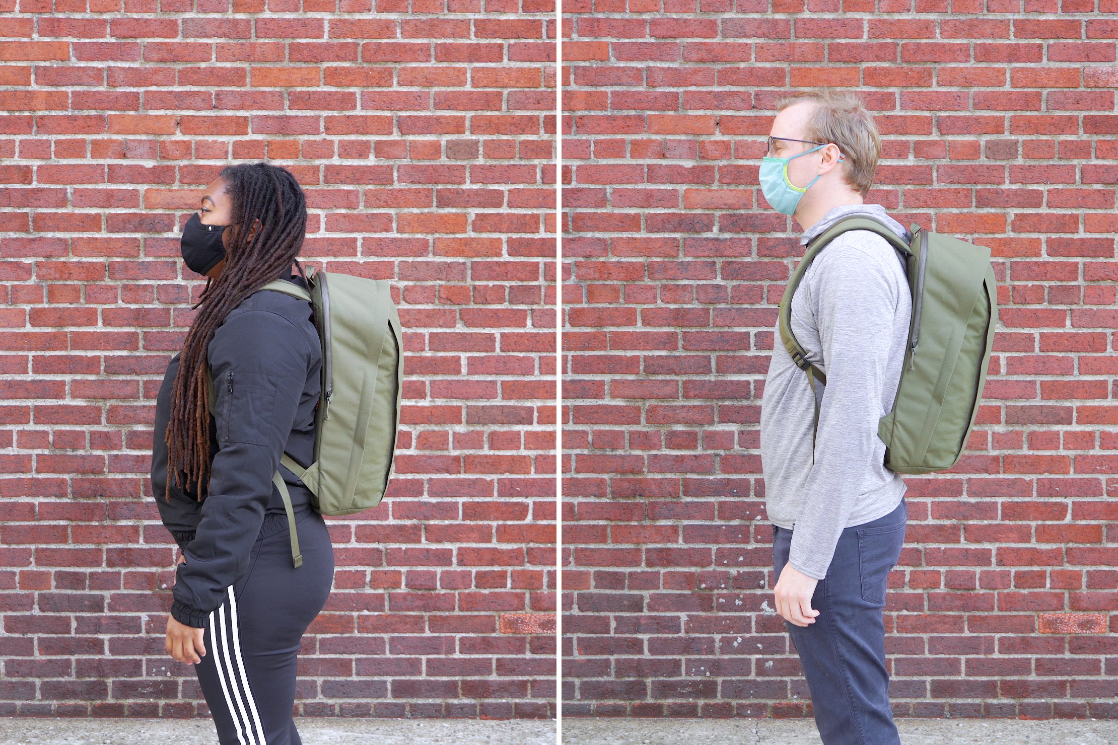Moment MTW Backpack | Male & Female Fit Photos