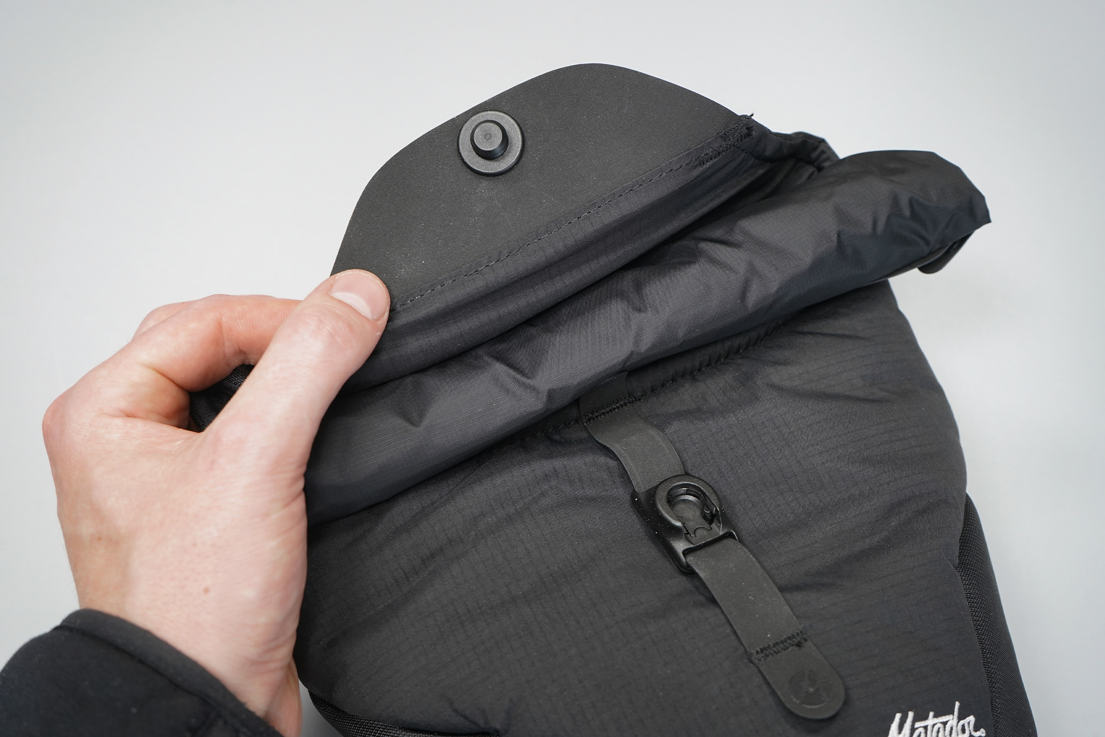 Matador Camera Base Layer 2.0 | The Hypalon-lined rolltop and magnetic Fidlock.