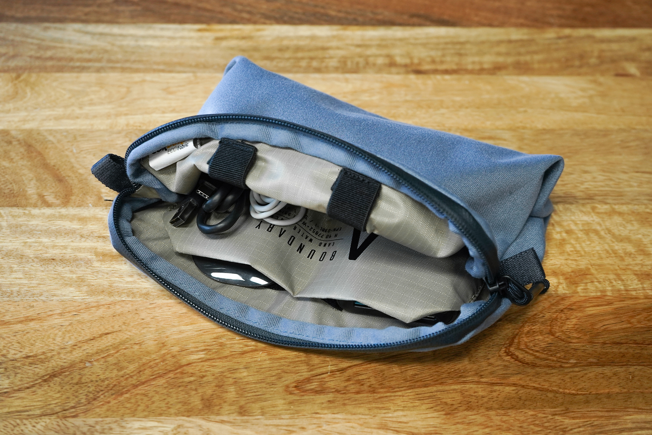 Boundary Supply Rennen Recycled Pouch | Using the pouch at work