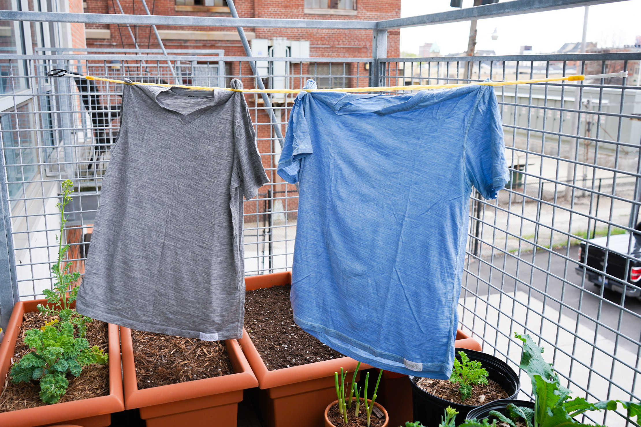 Flexo-Line Clothesline drying on the balcony