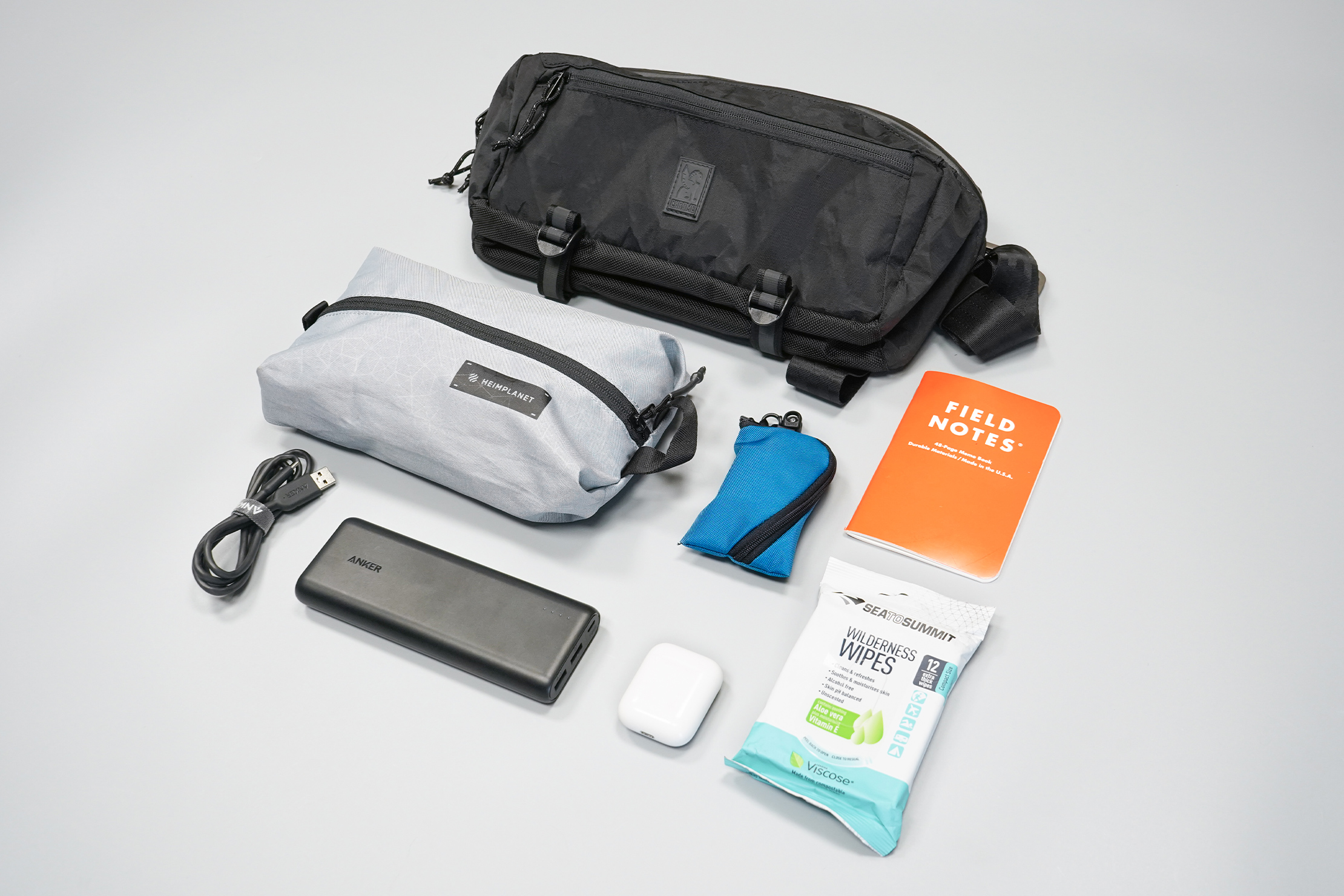 Chrome Industries Mini Kadet | The sling laid out