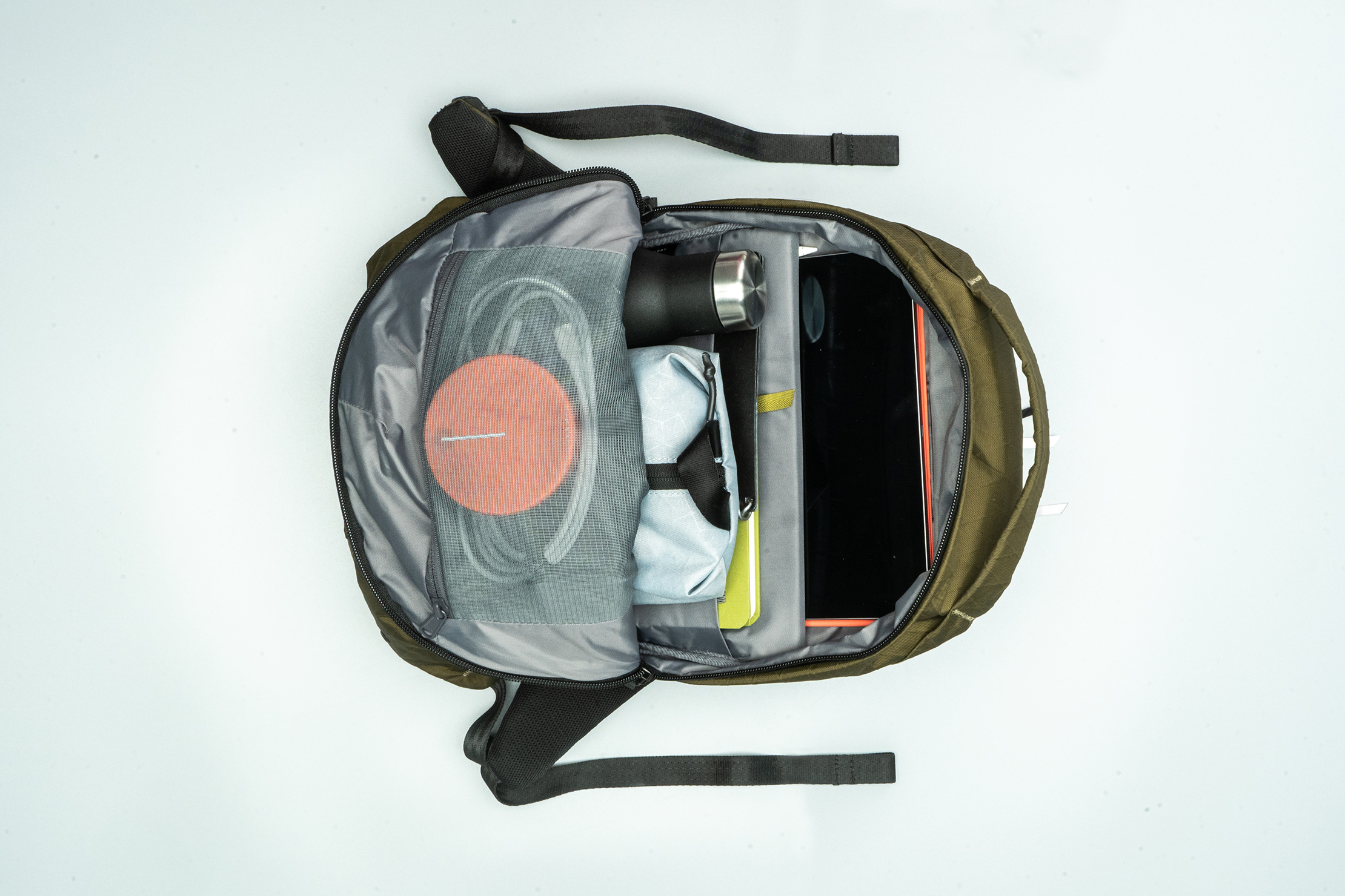 Able Carry Thirteen Daybag packed with gear