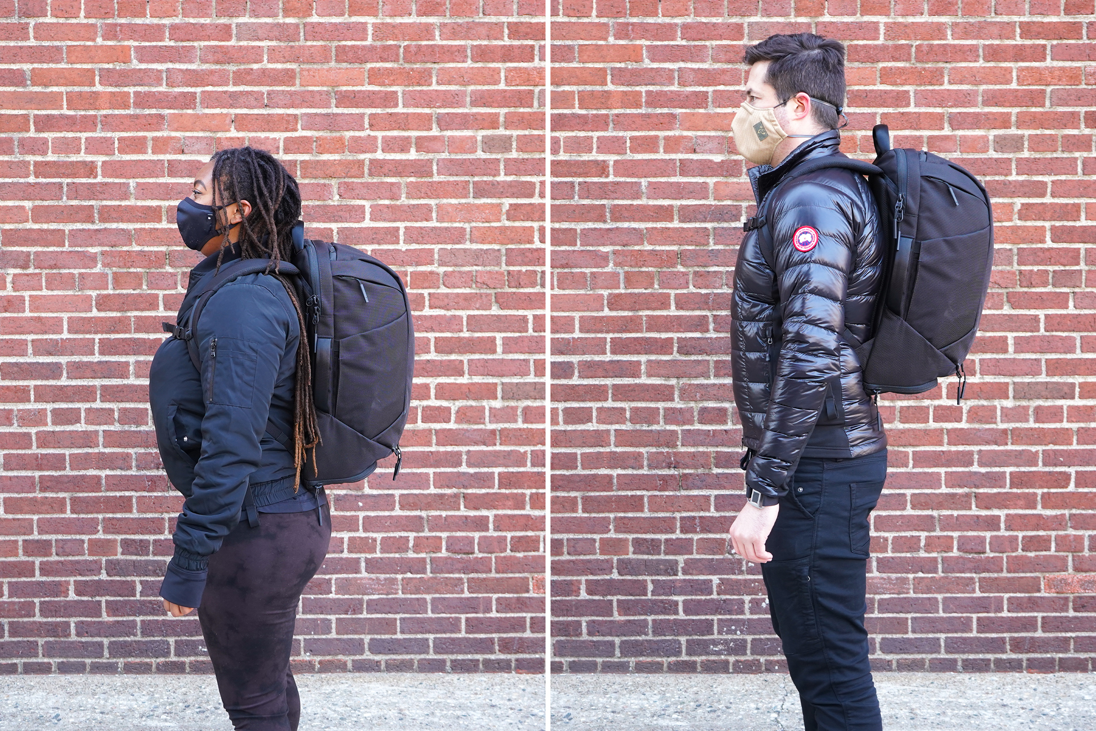 Aer Duffel Pack 3 | Male & Female Fit Photos