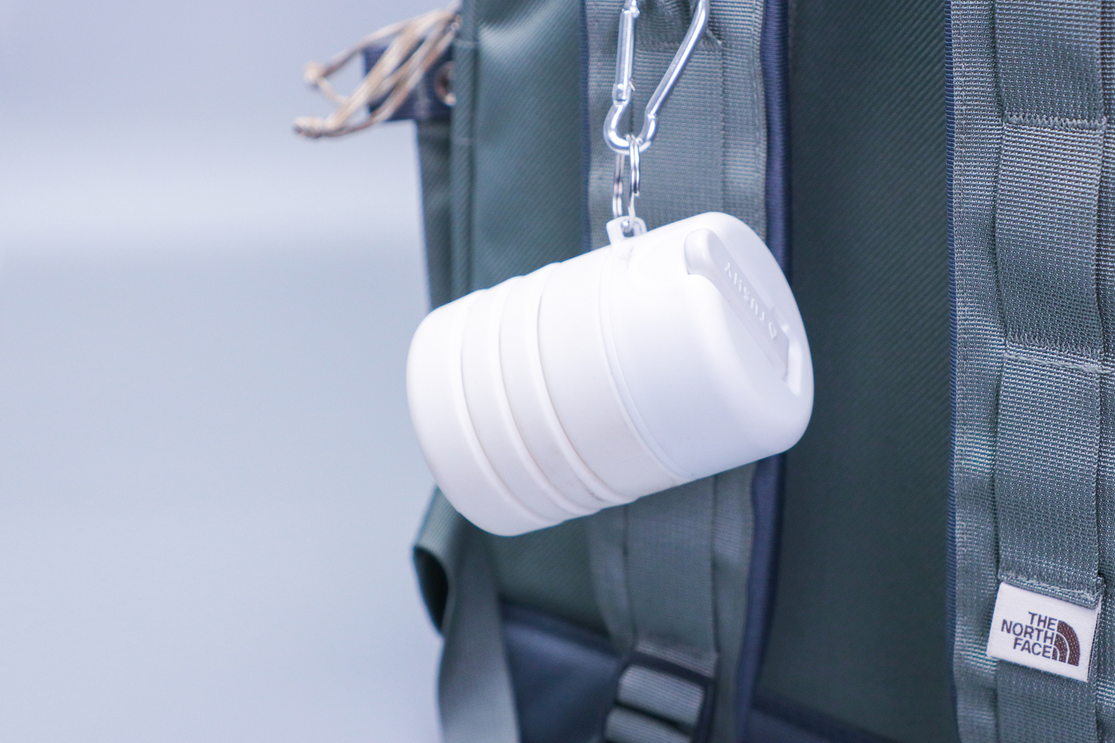 TUSHY Travel Portable Bidet Clipped to The Bag