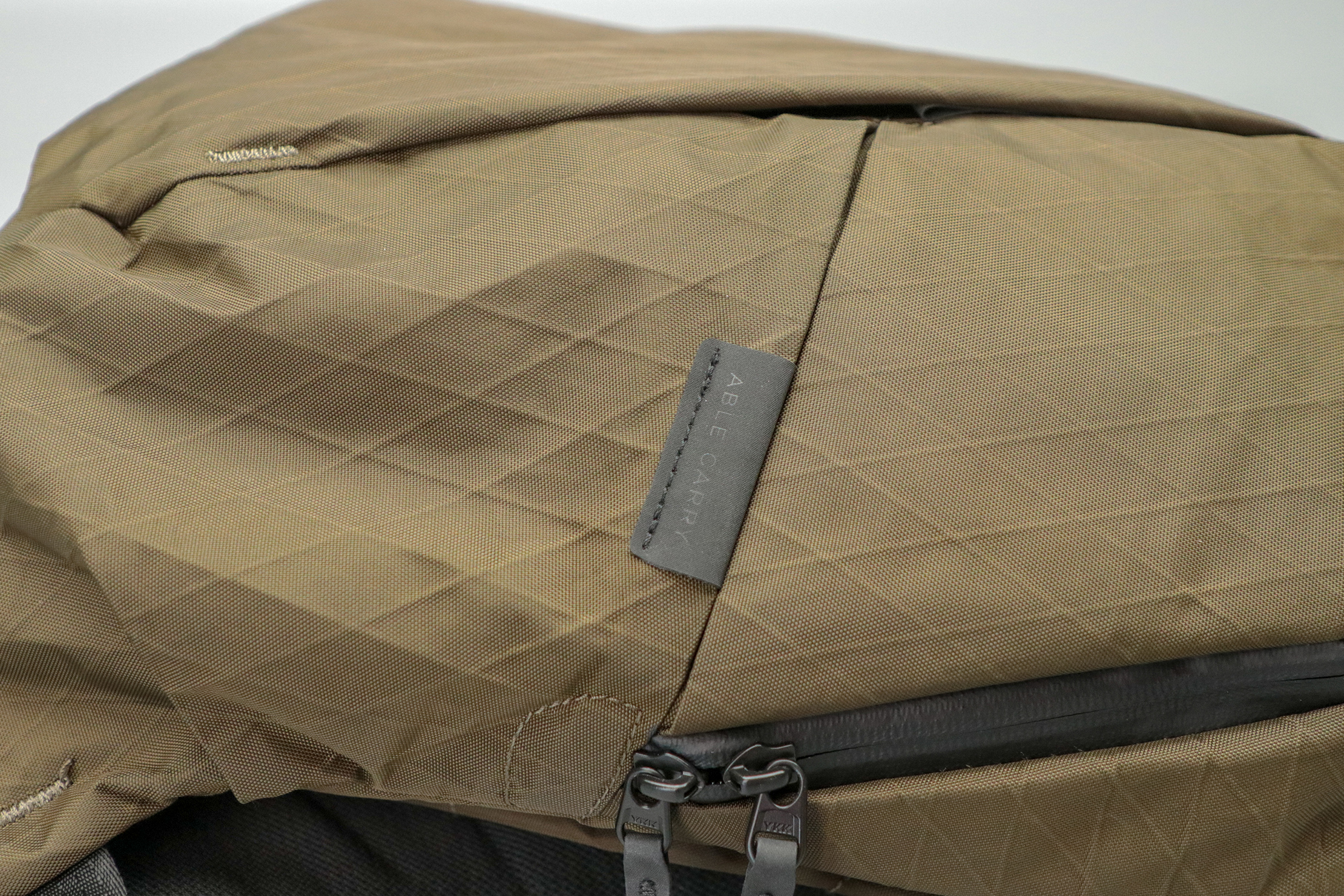 Able Carry Thirteen Daybag materials and zippers