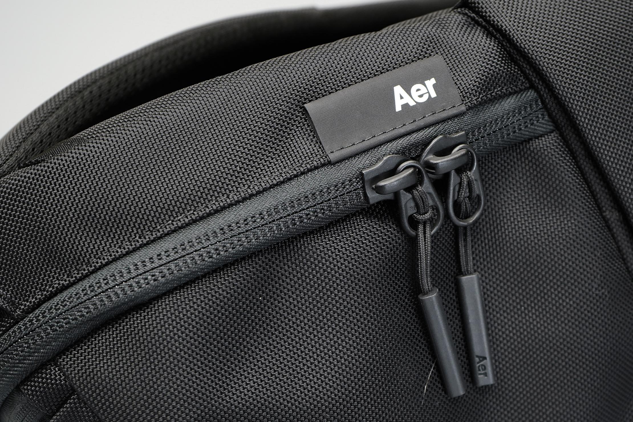 Aer Fit Pack 3 | Logo, fabric, & zipper