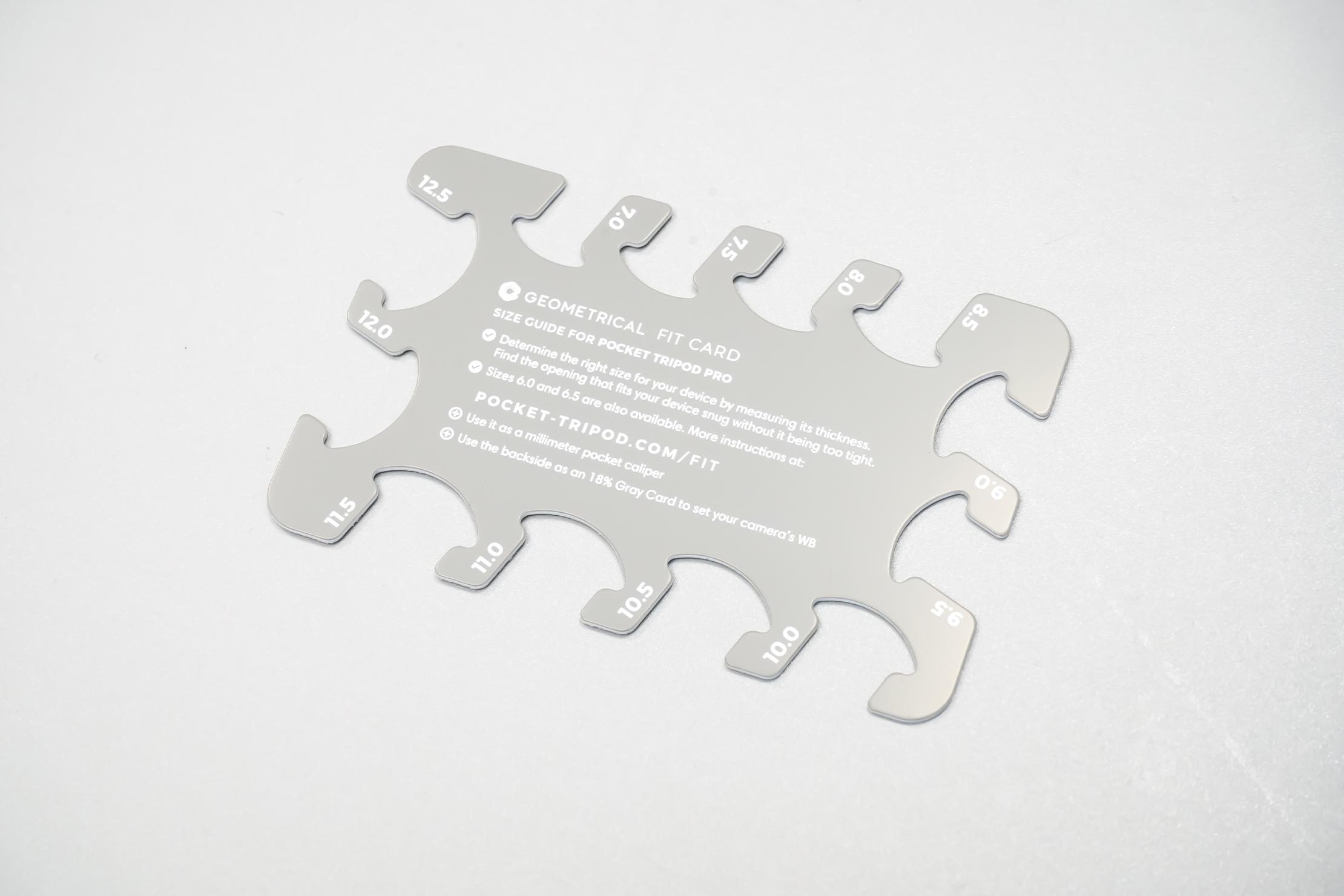 Geometrical Pocket Tripod Pro   Grey Fit Card
