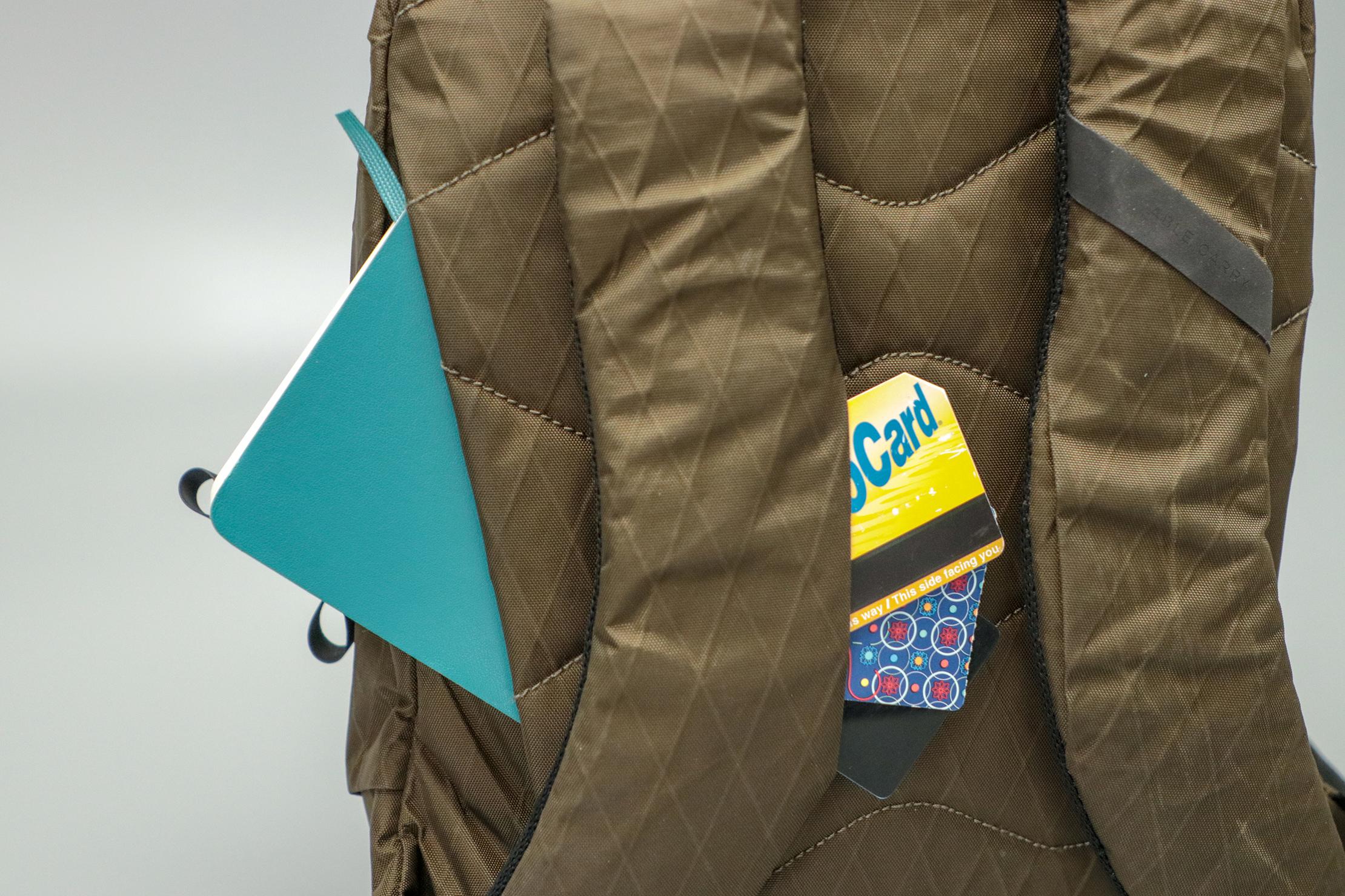 Able Carry Thirteen Daybag secret pockets