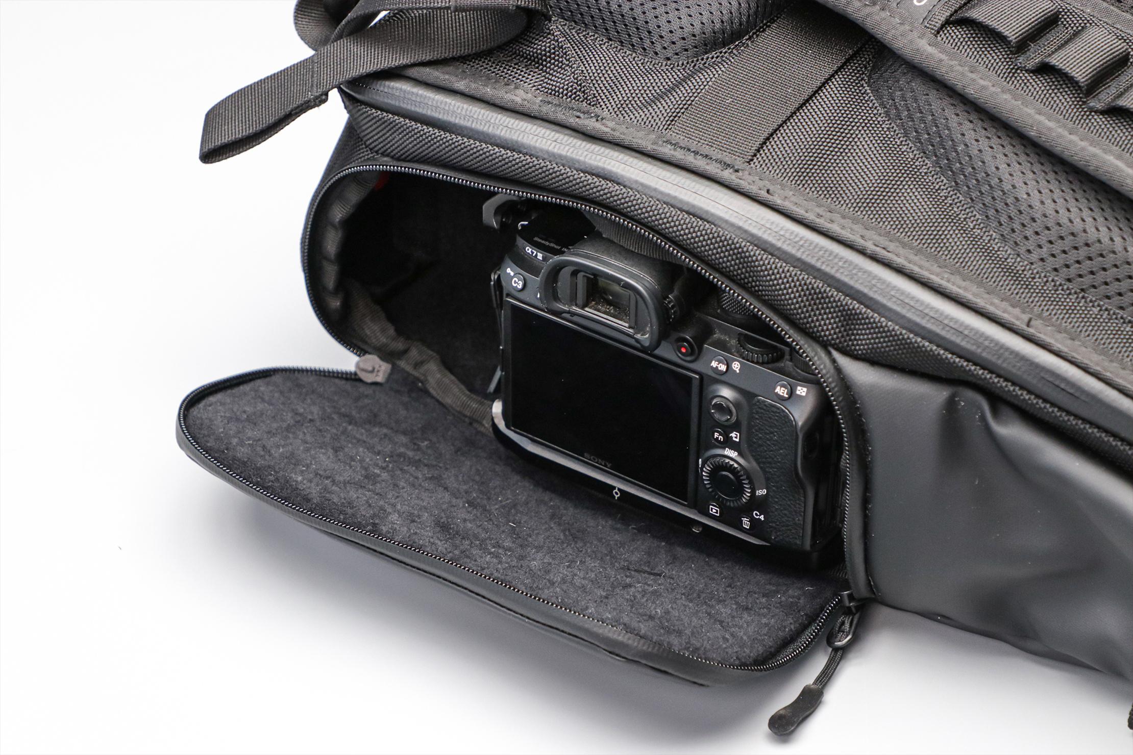 WANDRD PRVKE Lite Camera Compartment With Camera