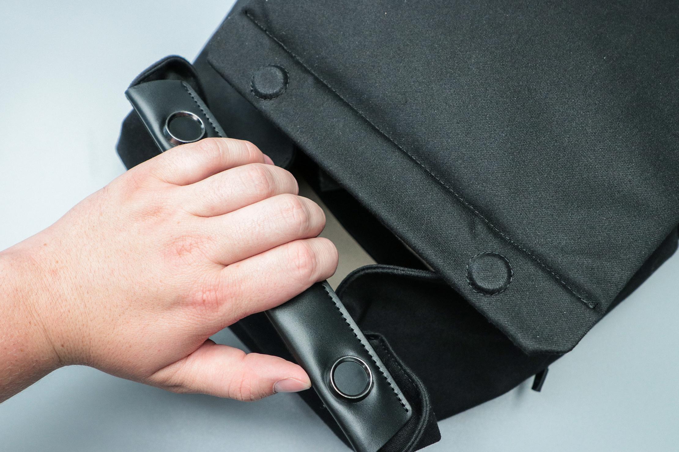 Bellroy Melbourne Backpack Magnetic Closure