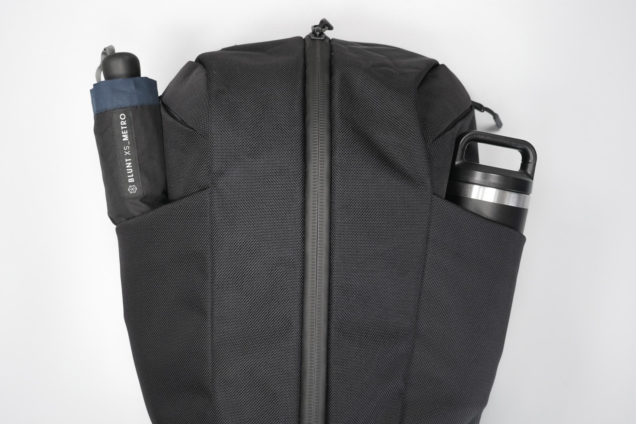 Aer Duffel Pack 3 | Water bottle pockets
