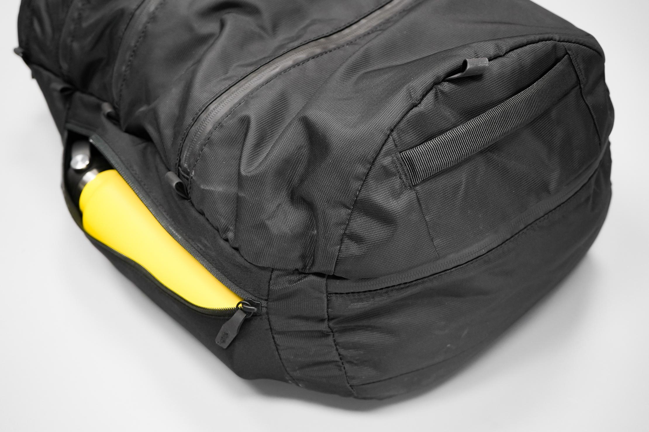 Matador SEG30 Backpack | Bottom handle, loops, and side pocket