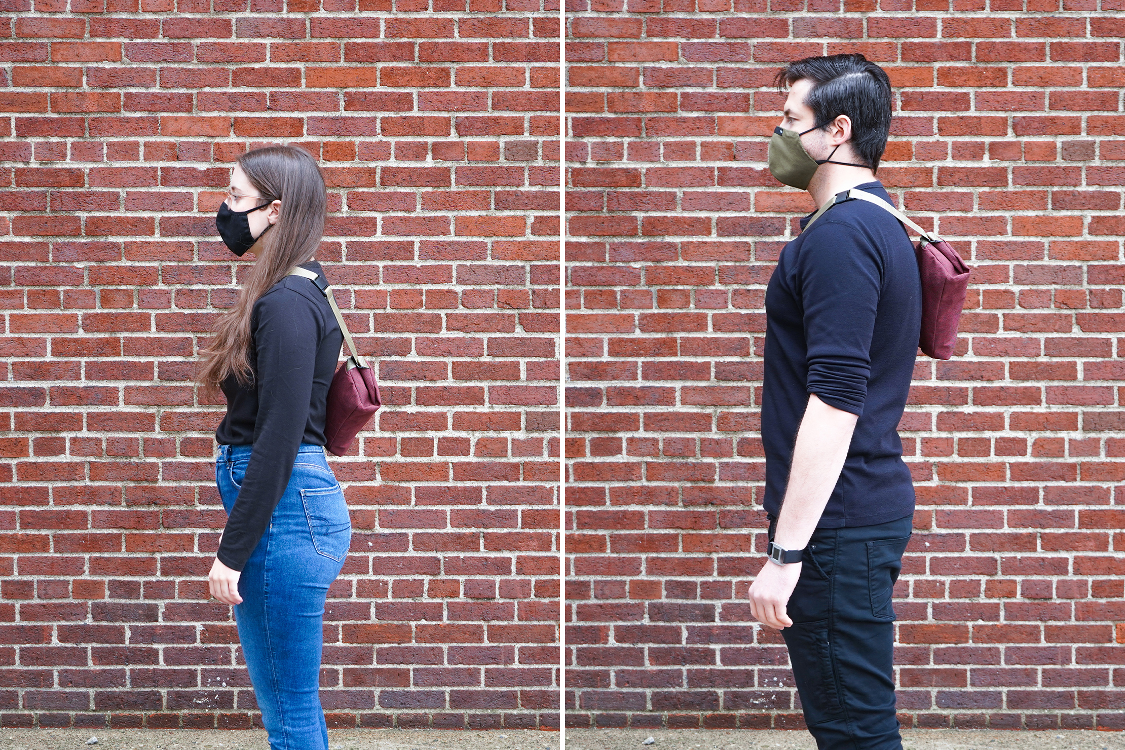 Bellroy Sling Mini | Male & Female Fit Photos