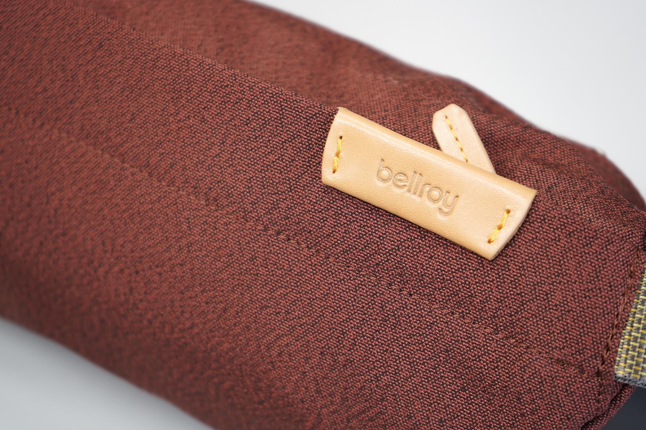 Bellroy Sling Mini | Materials, logo, & zipper