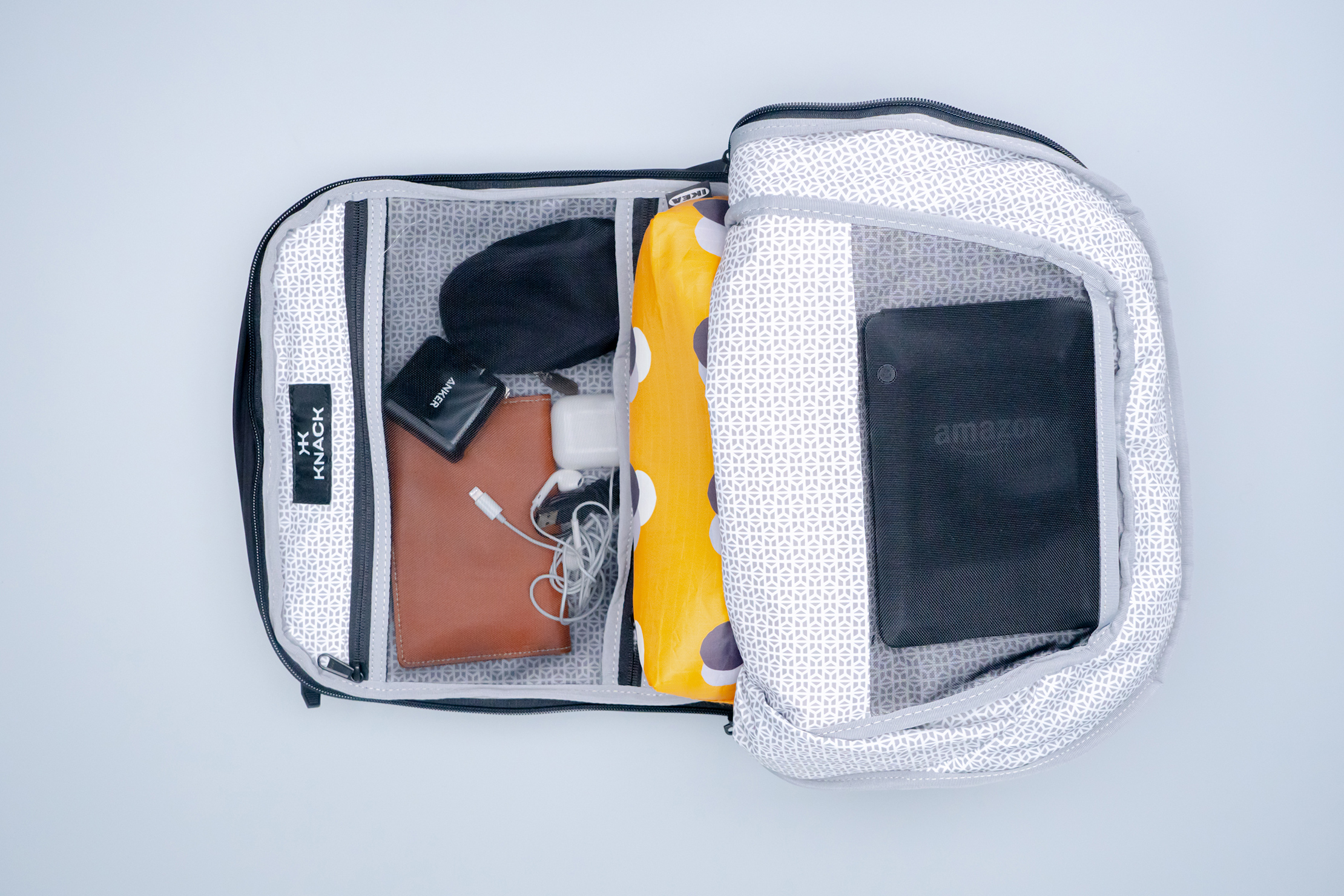 Knack Medium Expandable Pack Series 2 front compartment with tech