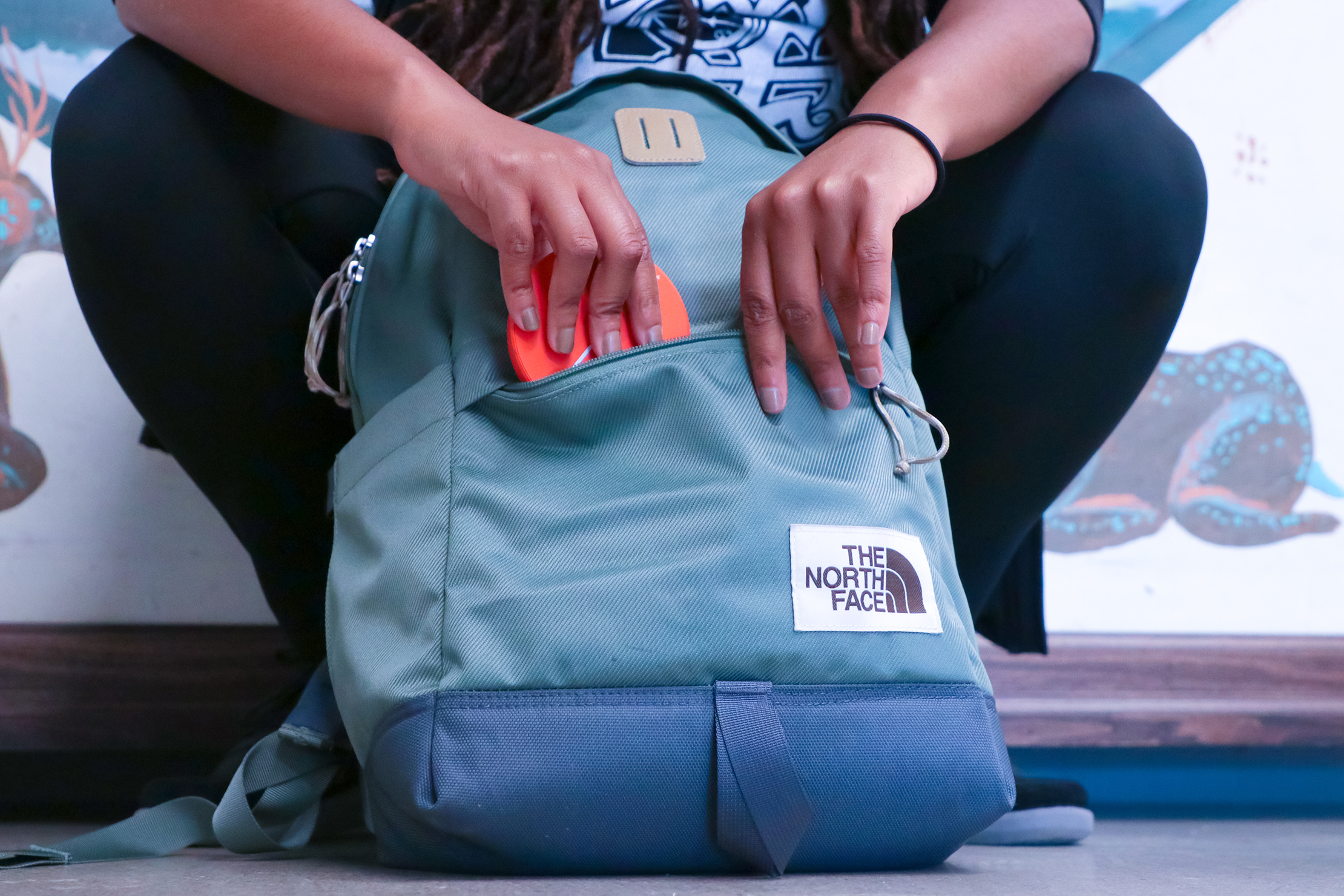 The North Face Daypack front compartment usage