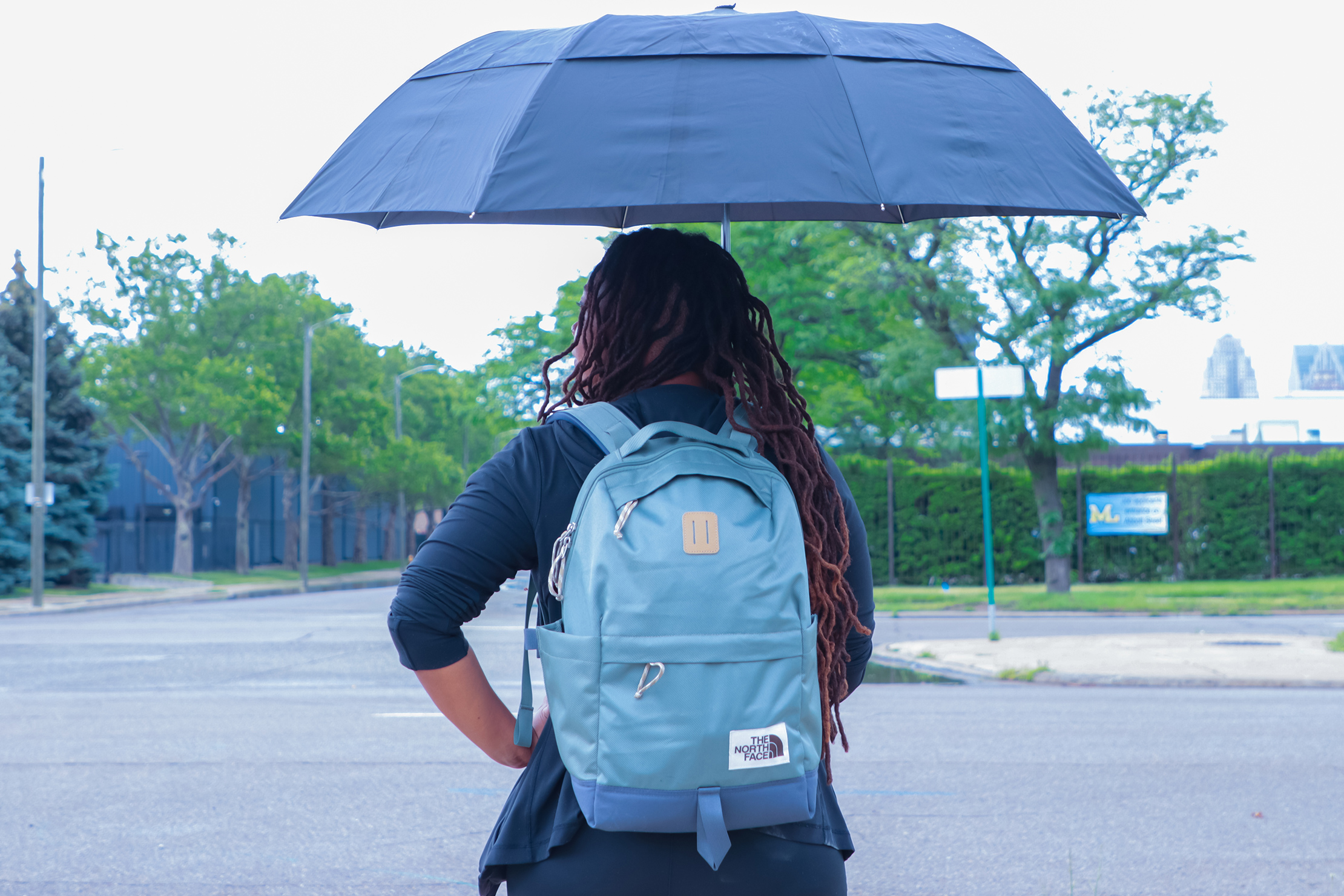 The North Face Daypack with umbrella