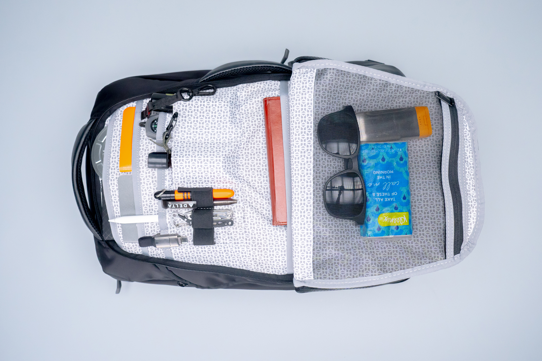 Knack Medium Expandable Pack Series 2 front compartment filled