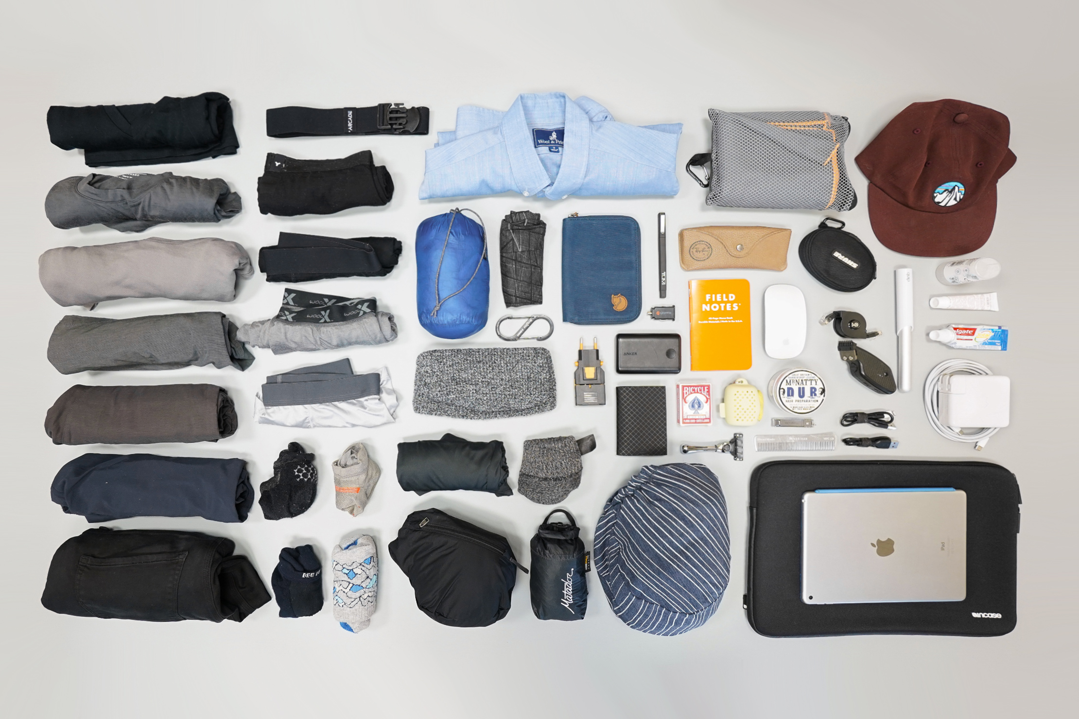 How To Pack a Carry-on Flat Lay