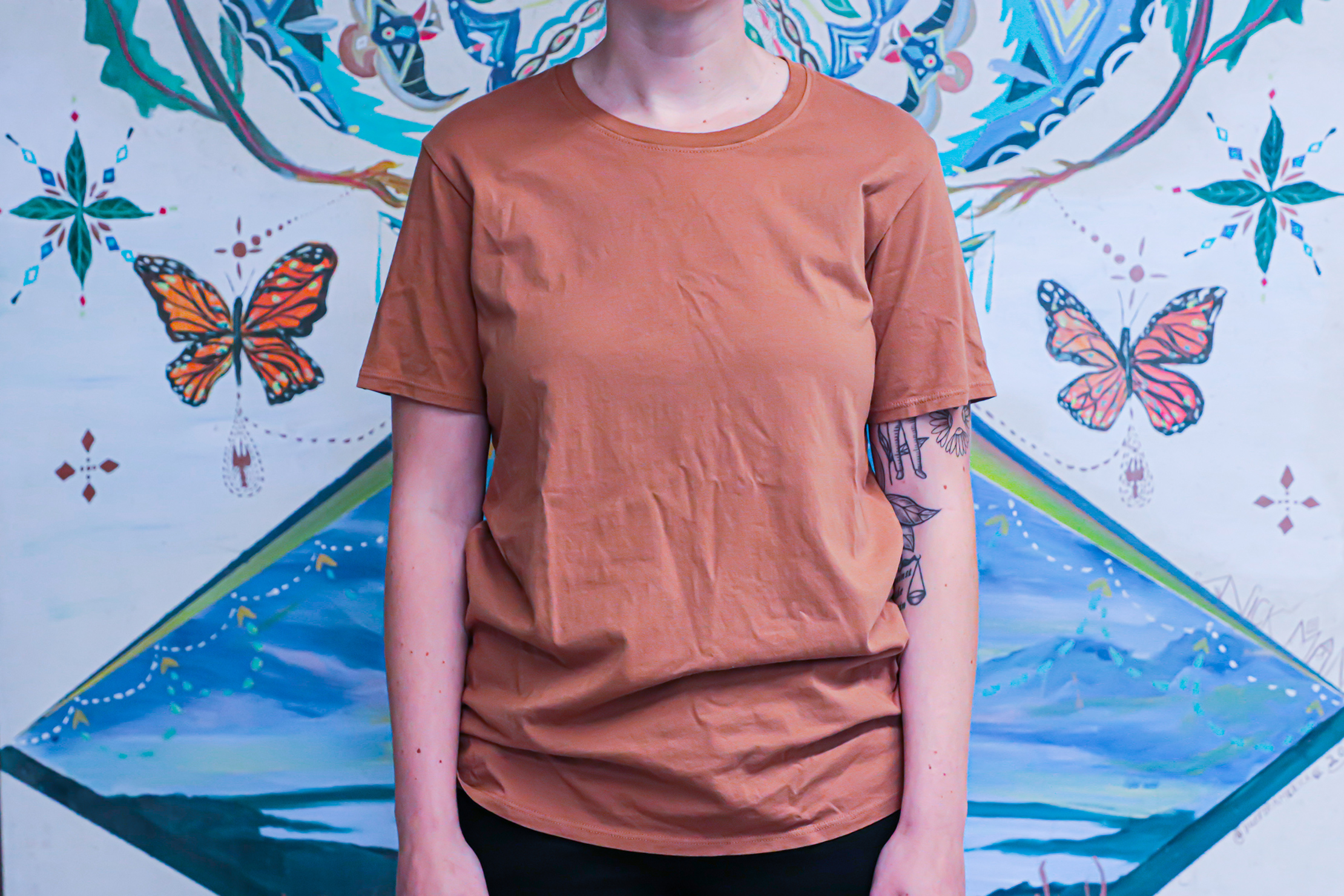 The Classic T-Shirt Company Short Sleeve Crew Neck Front