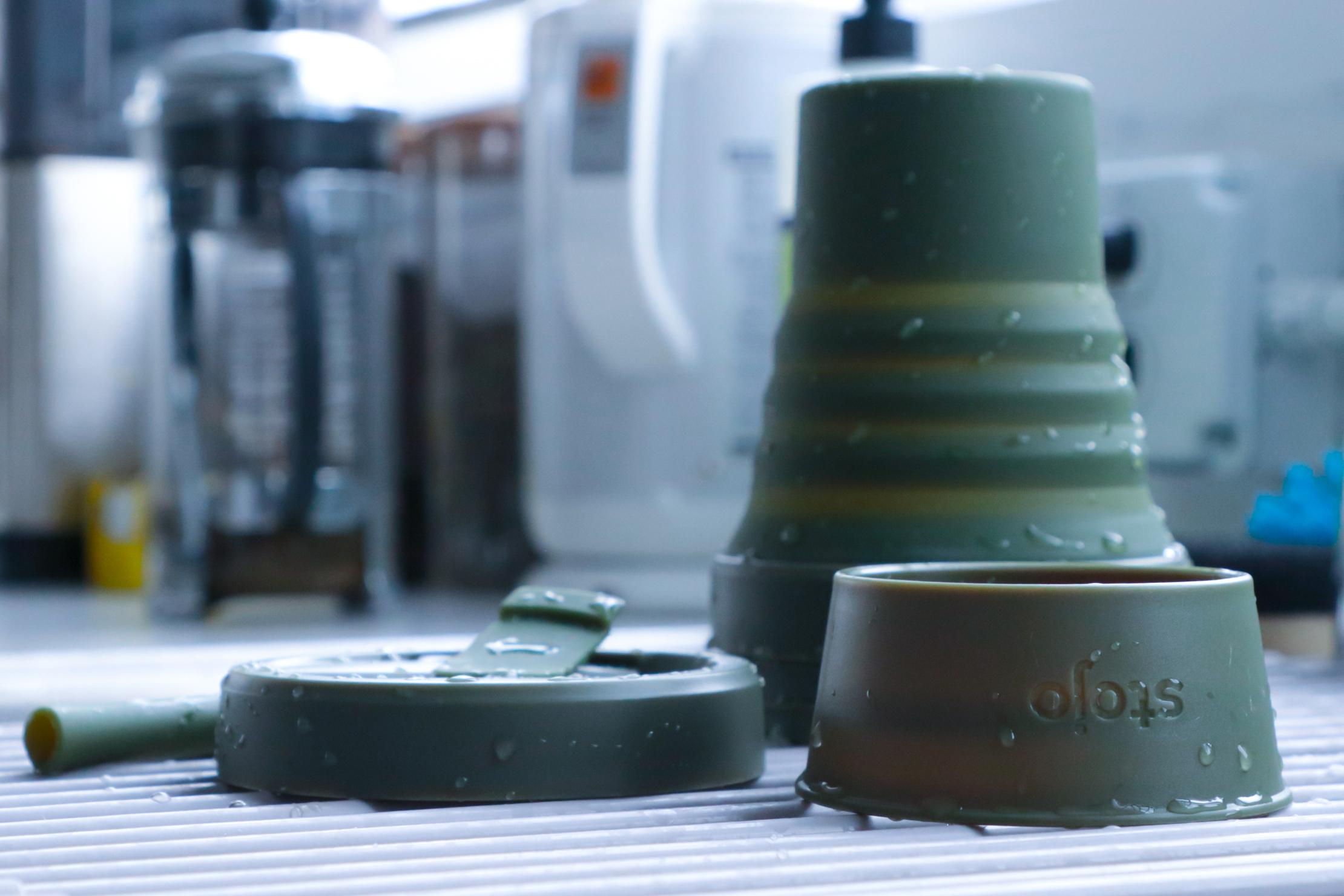 Stojo Cup 16 oz drying