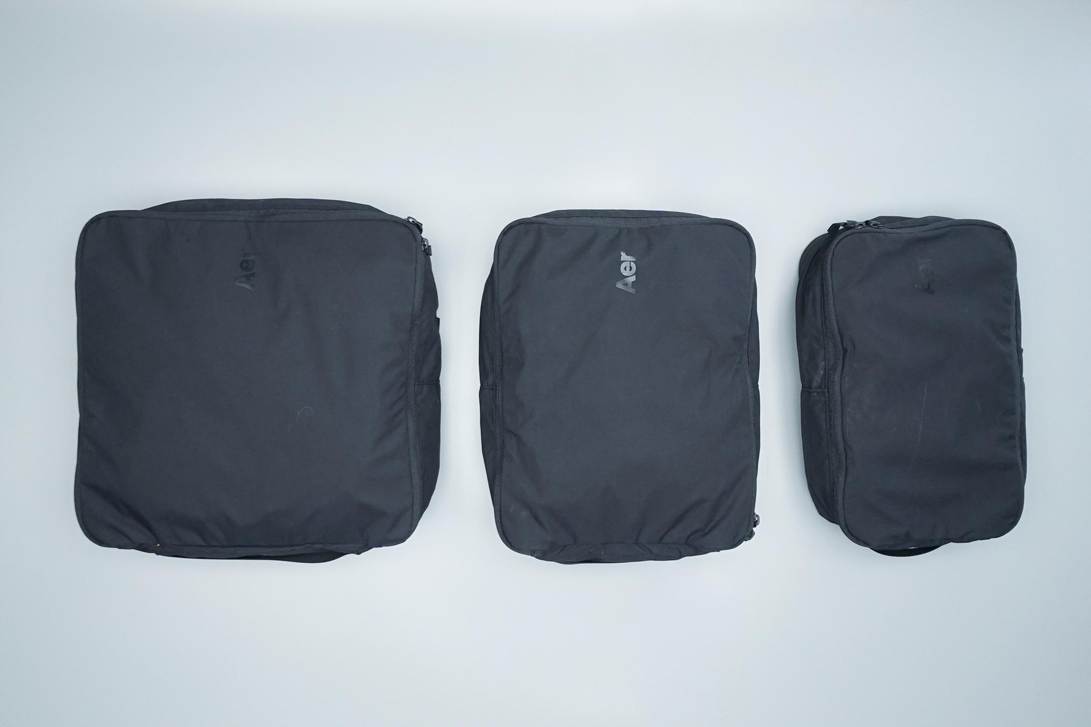 Aer Packing Cubes (V2) Sizes