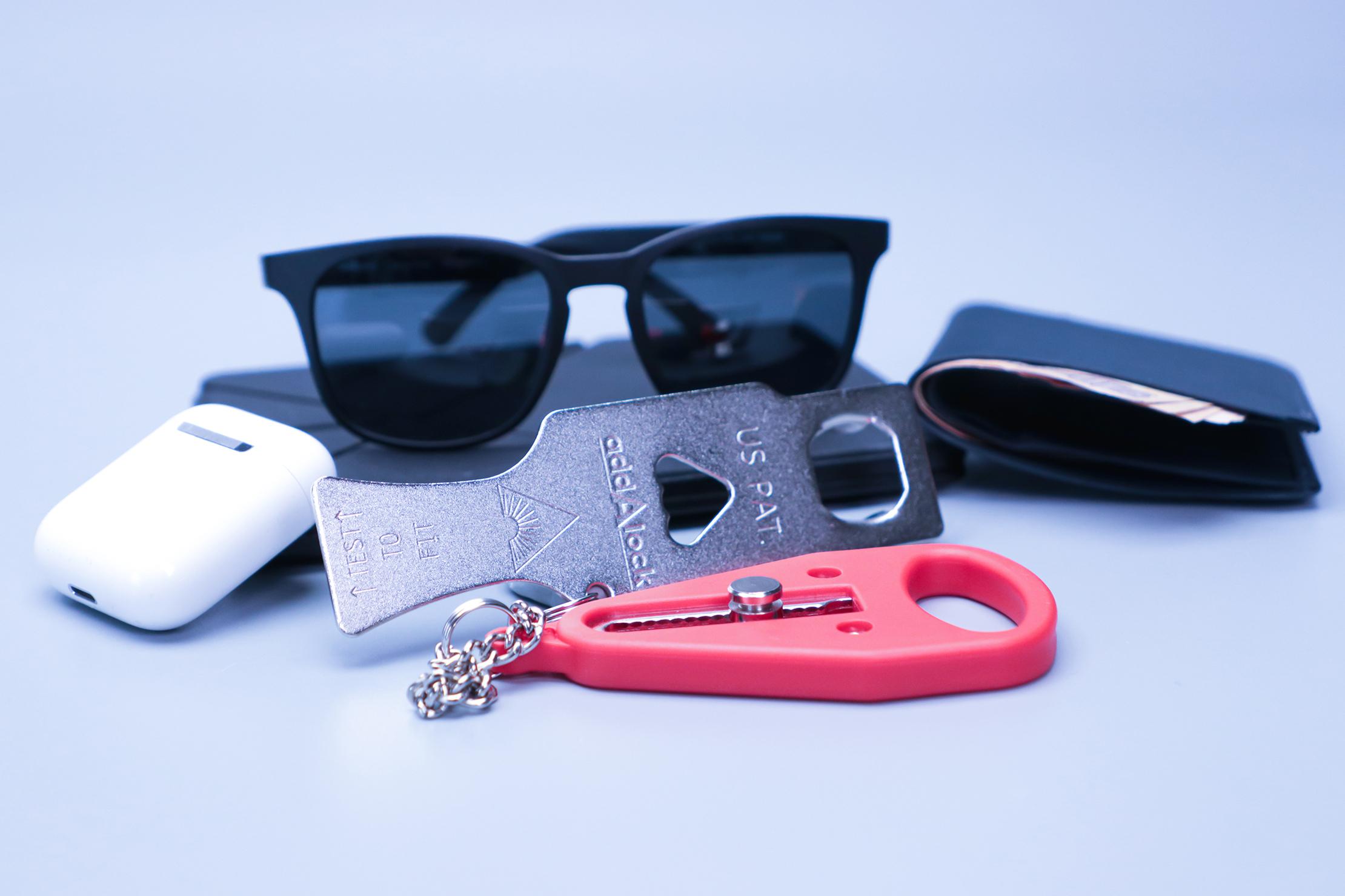 Addalock Portable Door Lock with Items