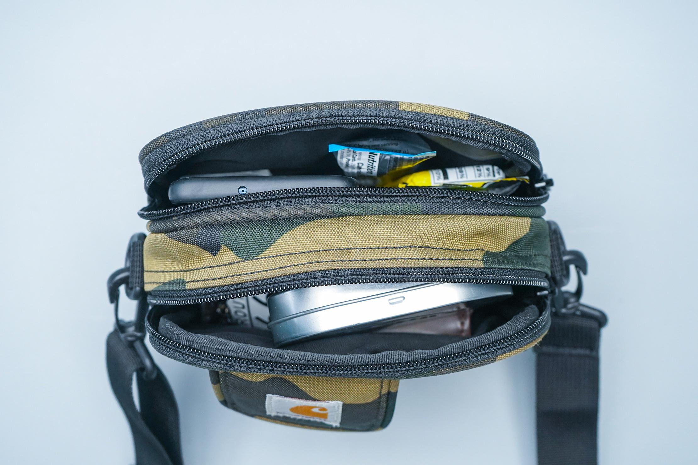 Carhartt WIP Essentials Bag main compartments open
