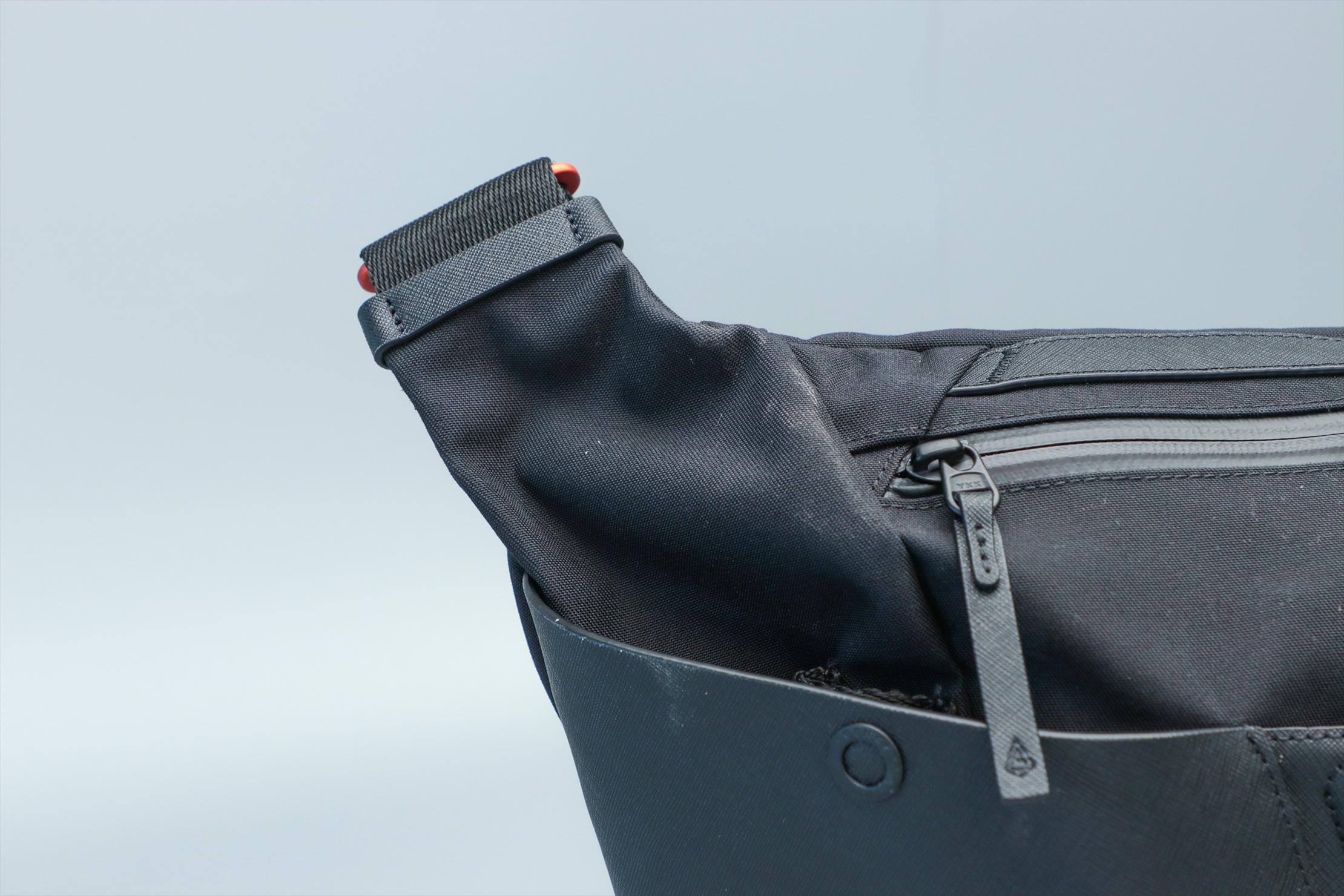 Agency Aspect Hybrid Messenger Bag Zipper Closeup