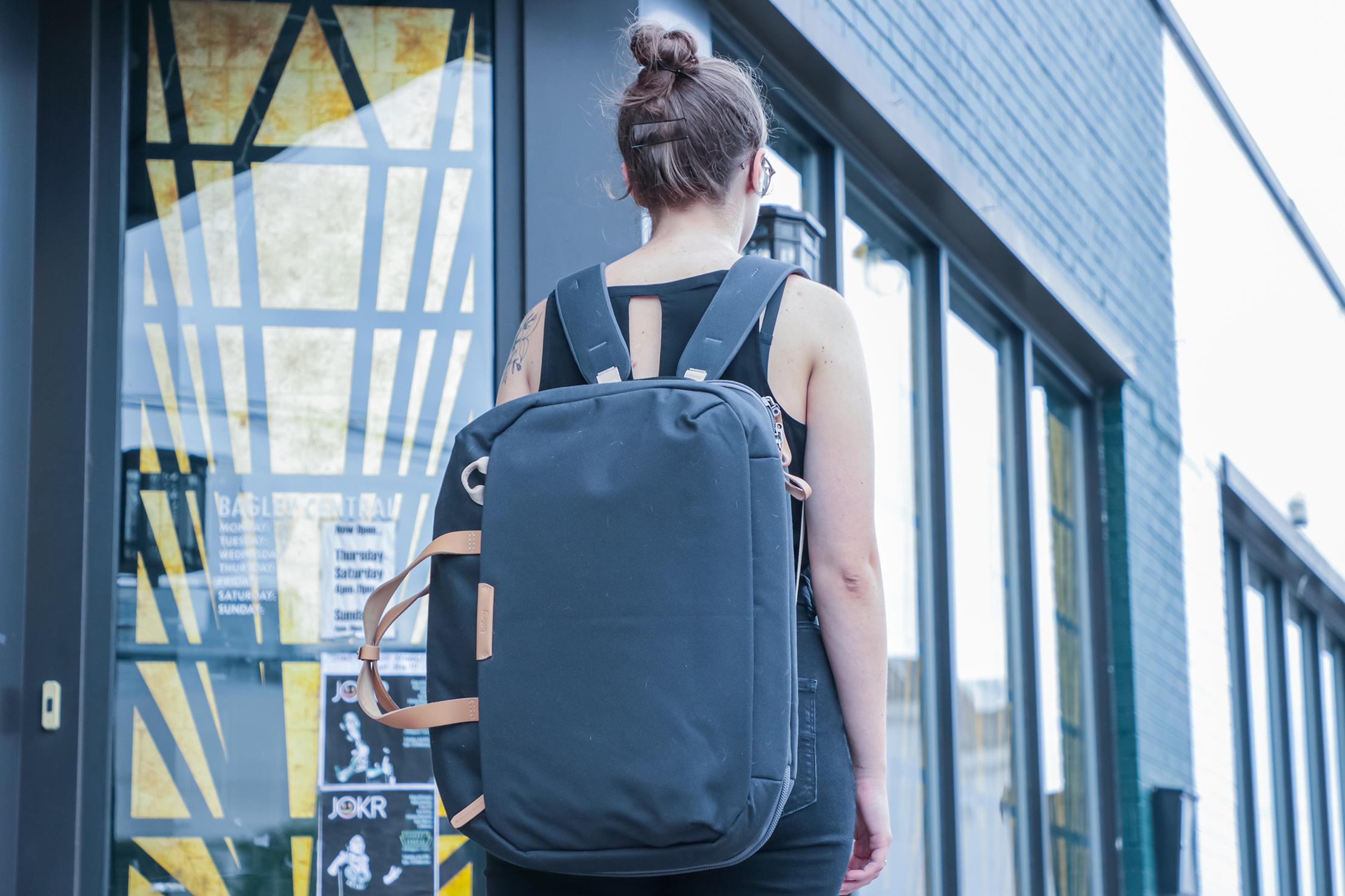 Bellroy Flight Bag in Detroit As A Backpack