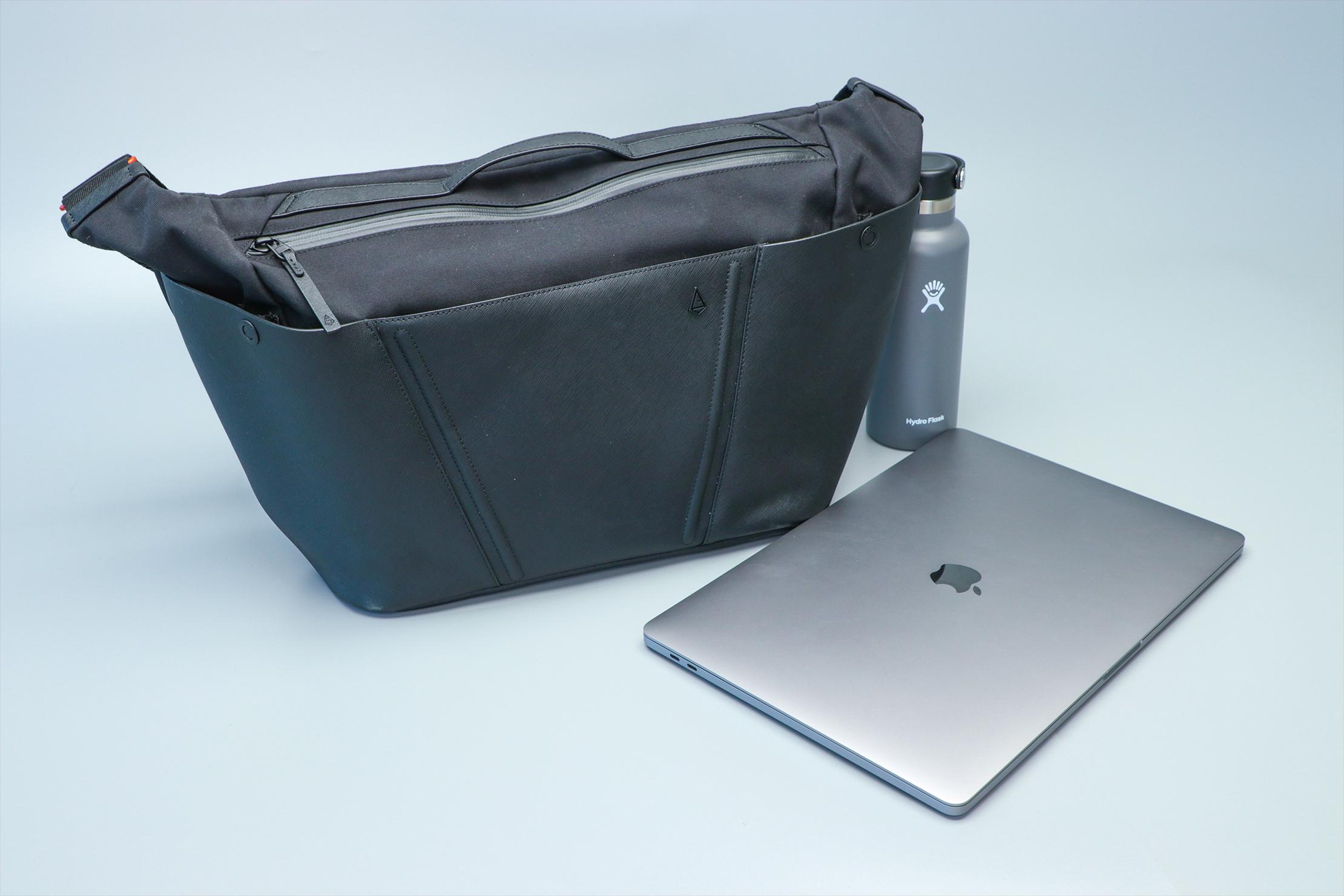 Agency Aspect Hybrid Messenger Bag Bottle Laptop Out