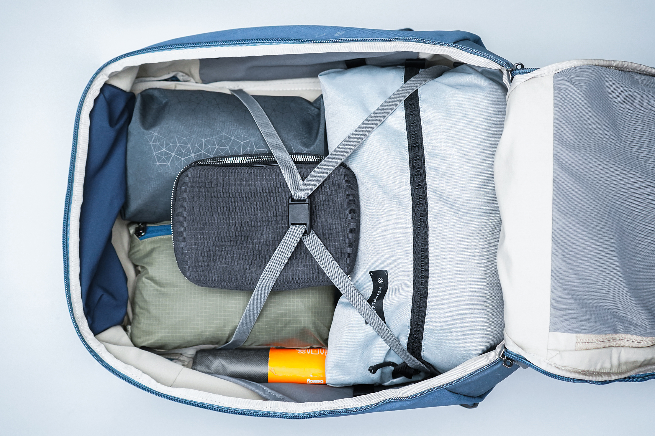 Bellroy Transit Backpack Plus Top Down Main Compartment with Harness
