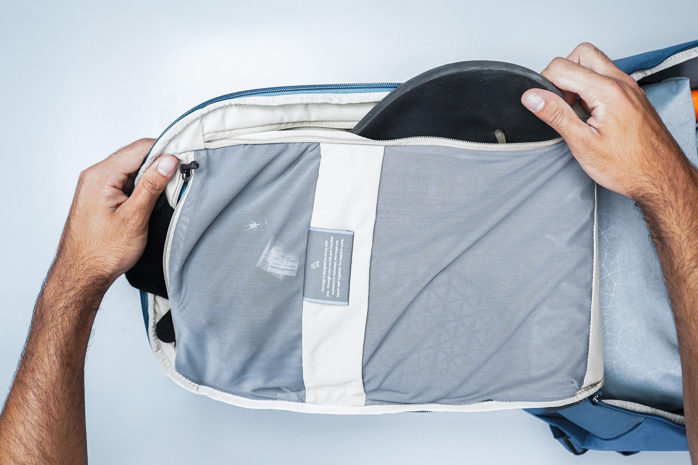 Bellroy Transit Backpack Plus Top Down Mesh Pocket