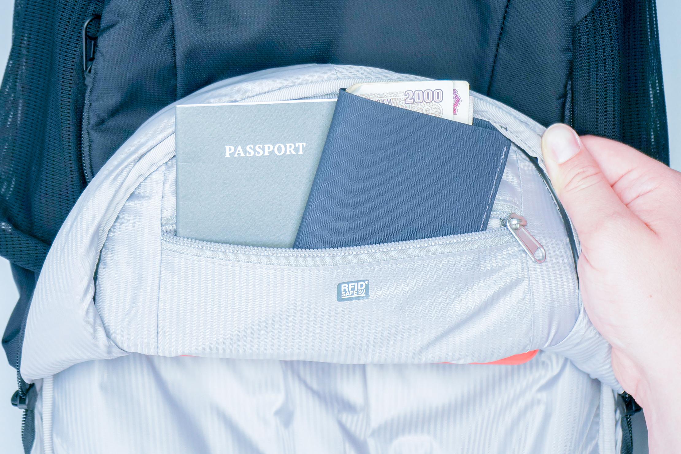 Pacsafe Metrosafe LS450 Anti-Theft Backpack Passport Wallet