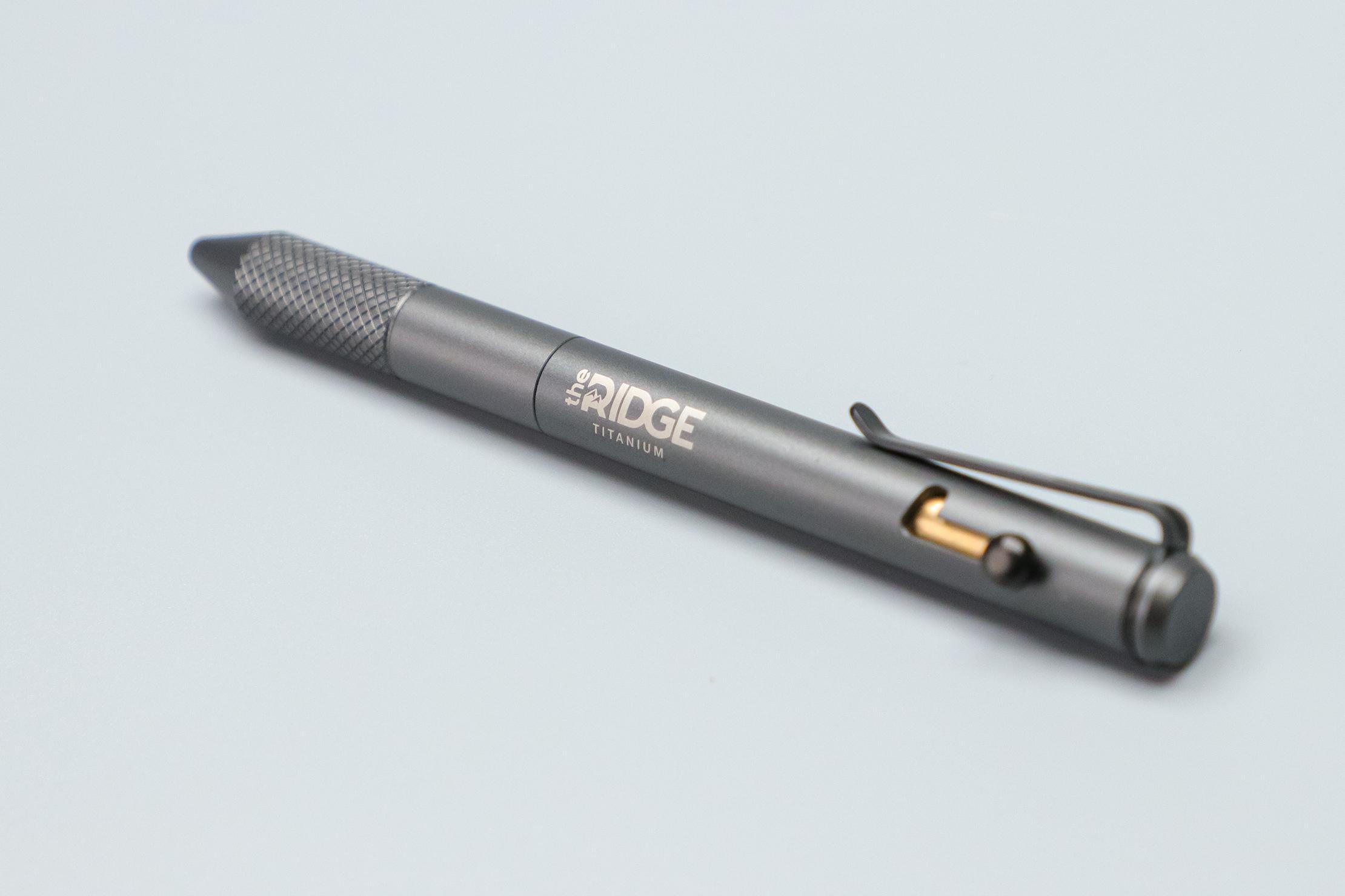 The Ridge Bolt Action Pen logo