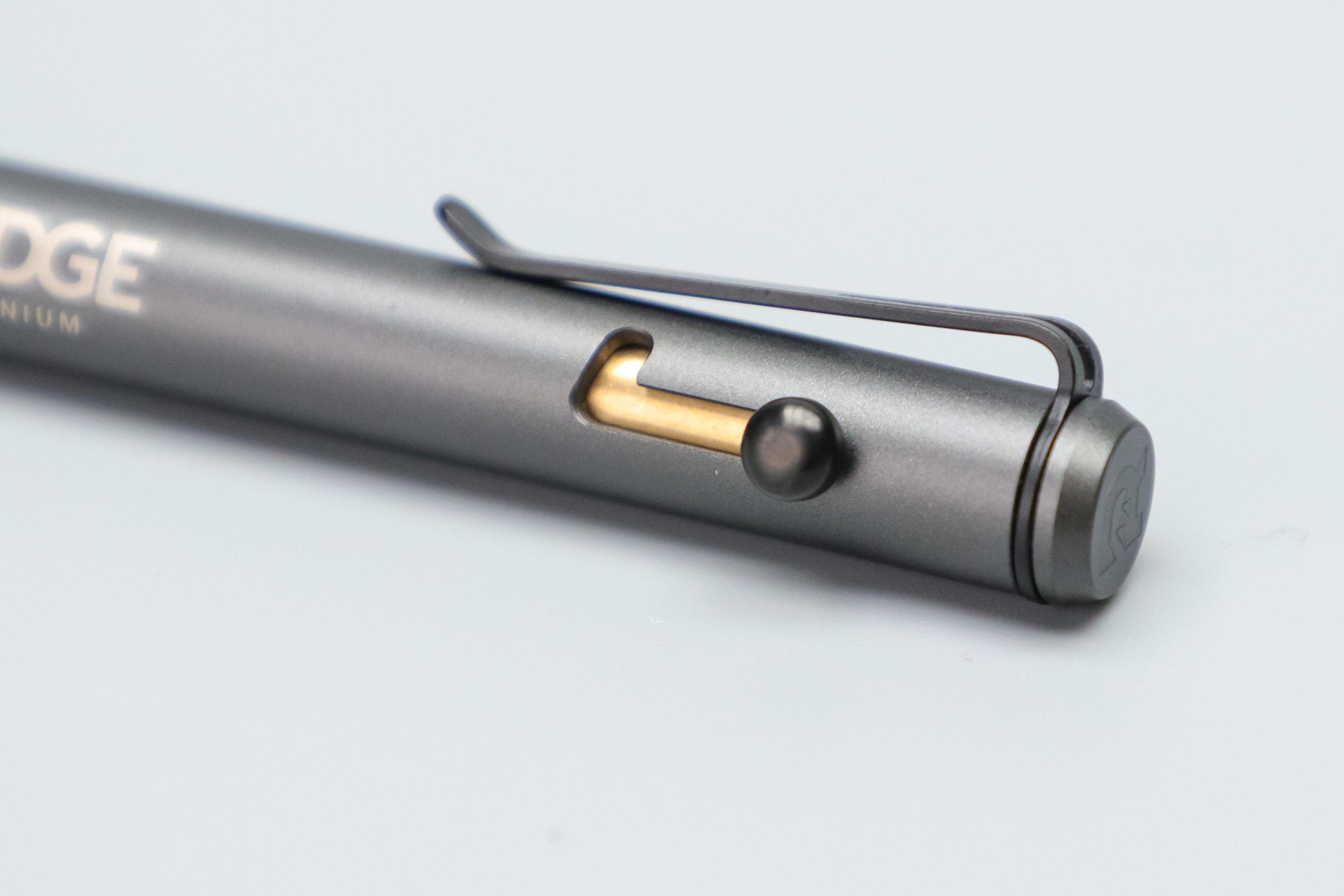 The Ridge Bolt Action Pen trigger mechanism