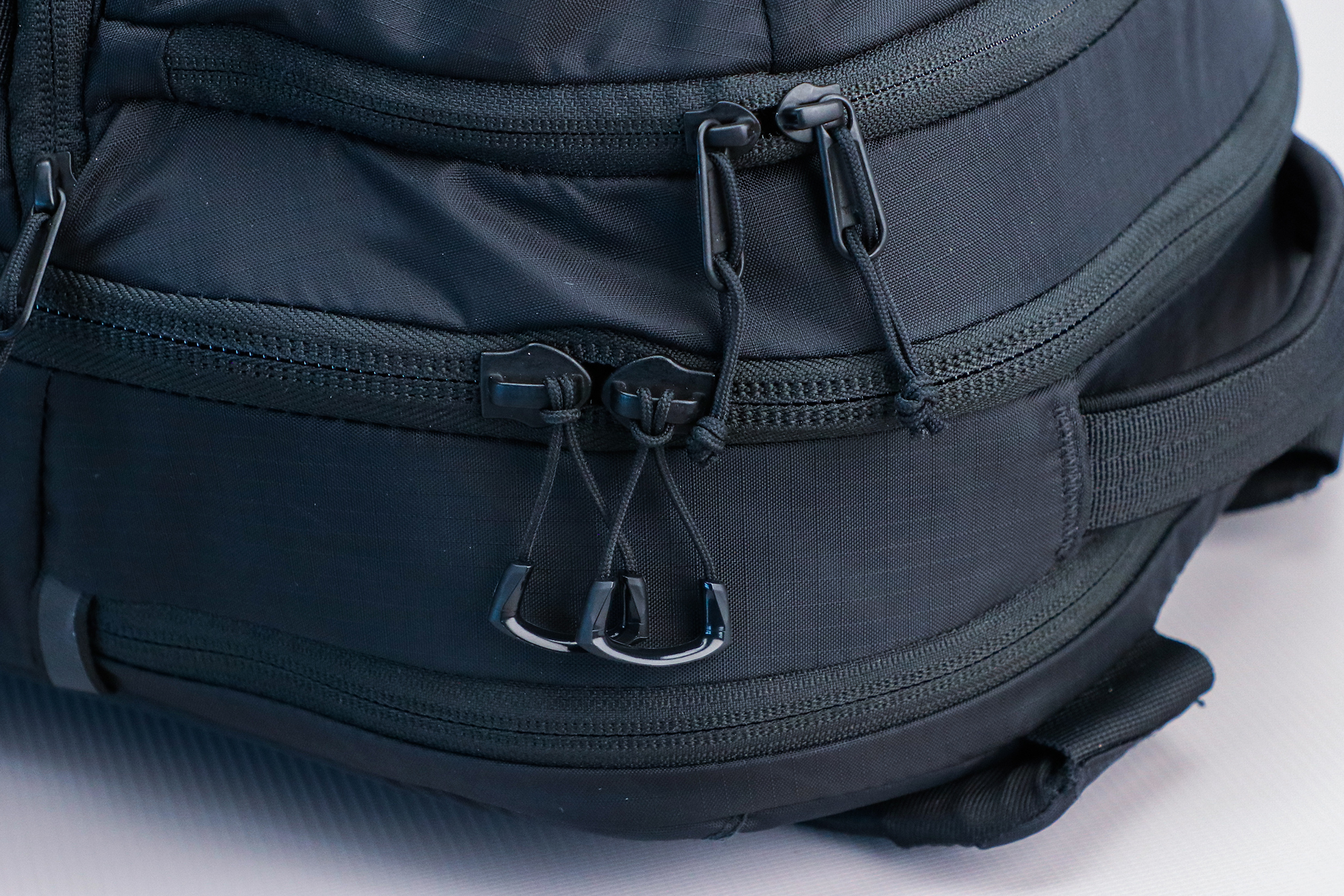 The North Face Surge Backpack zippers and zipper pulls