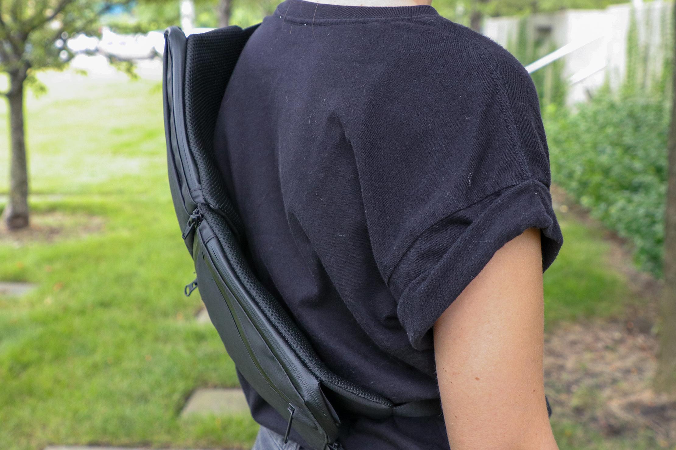 Gravel Backpack Travel System Hip Strap Cross Body on Back