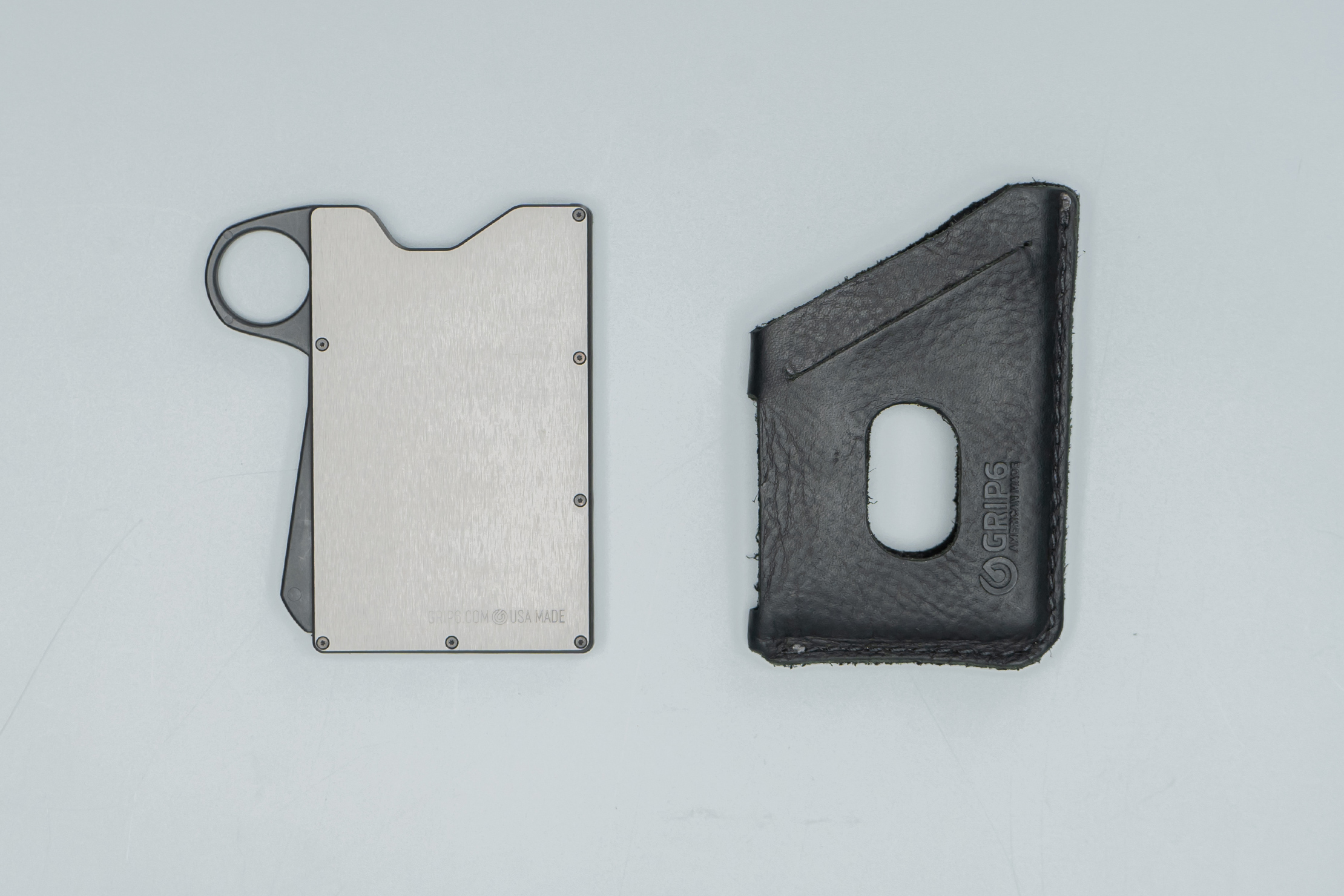 Grip6 Wallet Components Side by Side