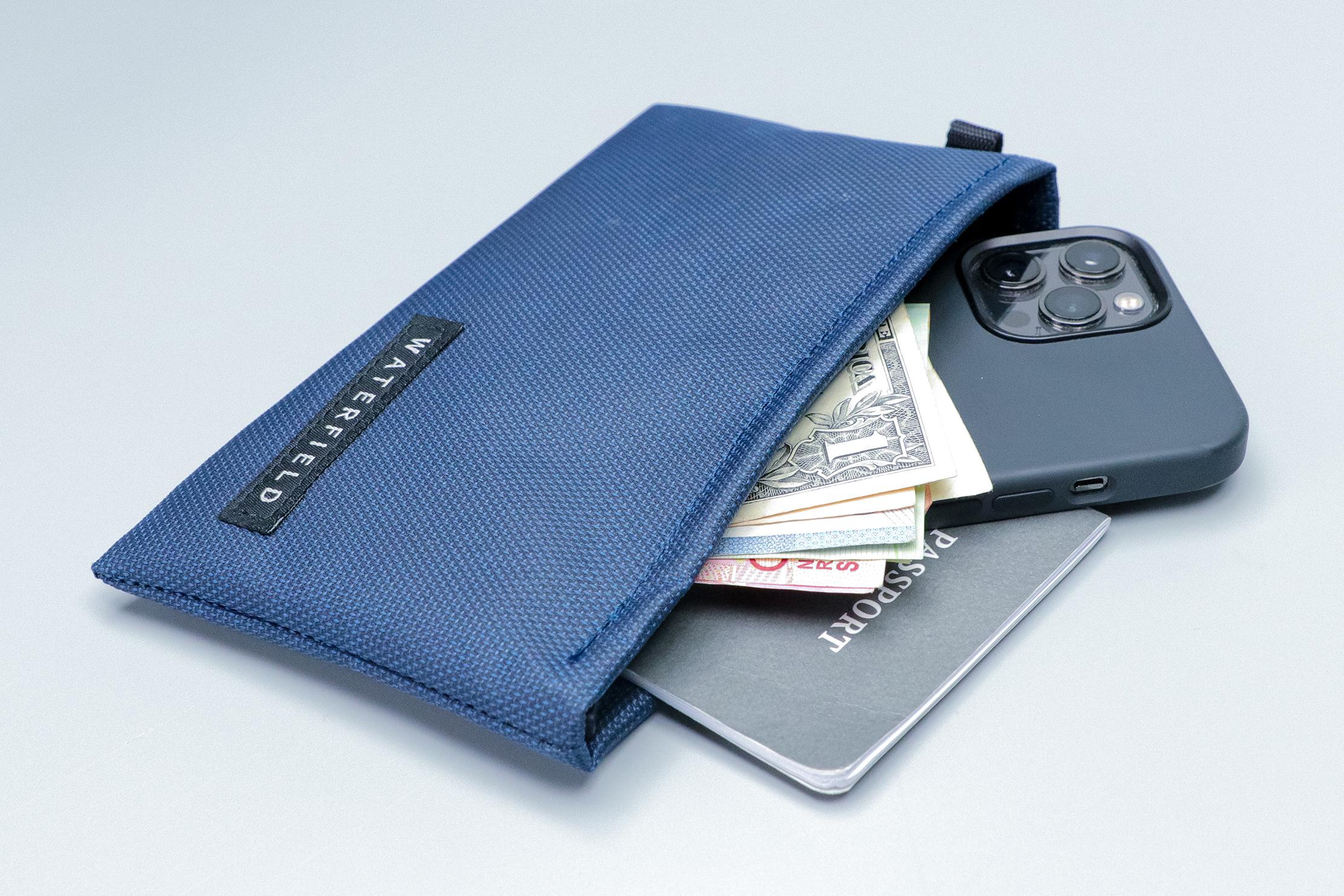 WaterField Designs Travel Wallet passport and phone